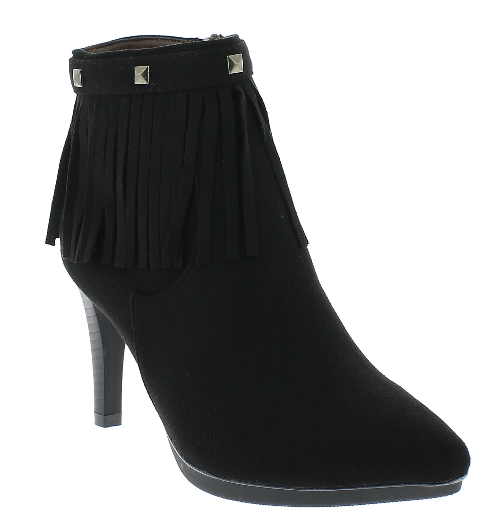 BALLERI Γυναικείο Μποτάκι BL16115 Μαύρο - IqShoes - BL1611-5 BLACK -black-39/1/1 παπούτσια  γυναικεία μποτάκια