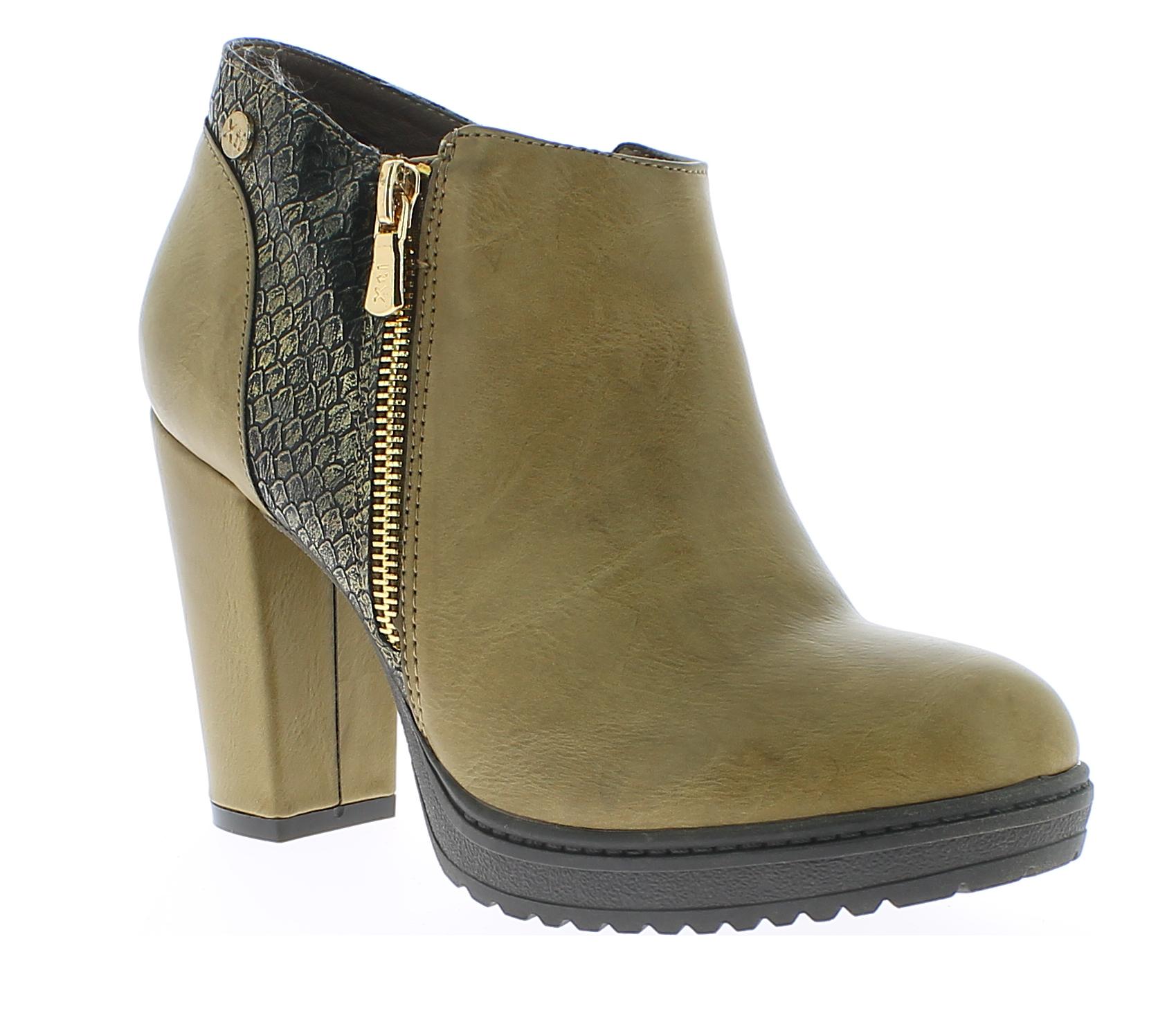 XTI Γυναικείο Μποτάκι 46030 Καφέ - IqShoes - 46030 TAUPE-brown-36/1/24/7 παπούτσια  γυναικεία μποτάκια