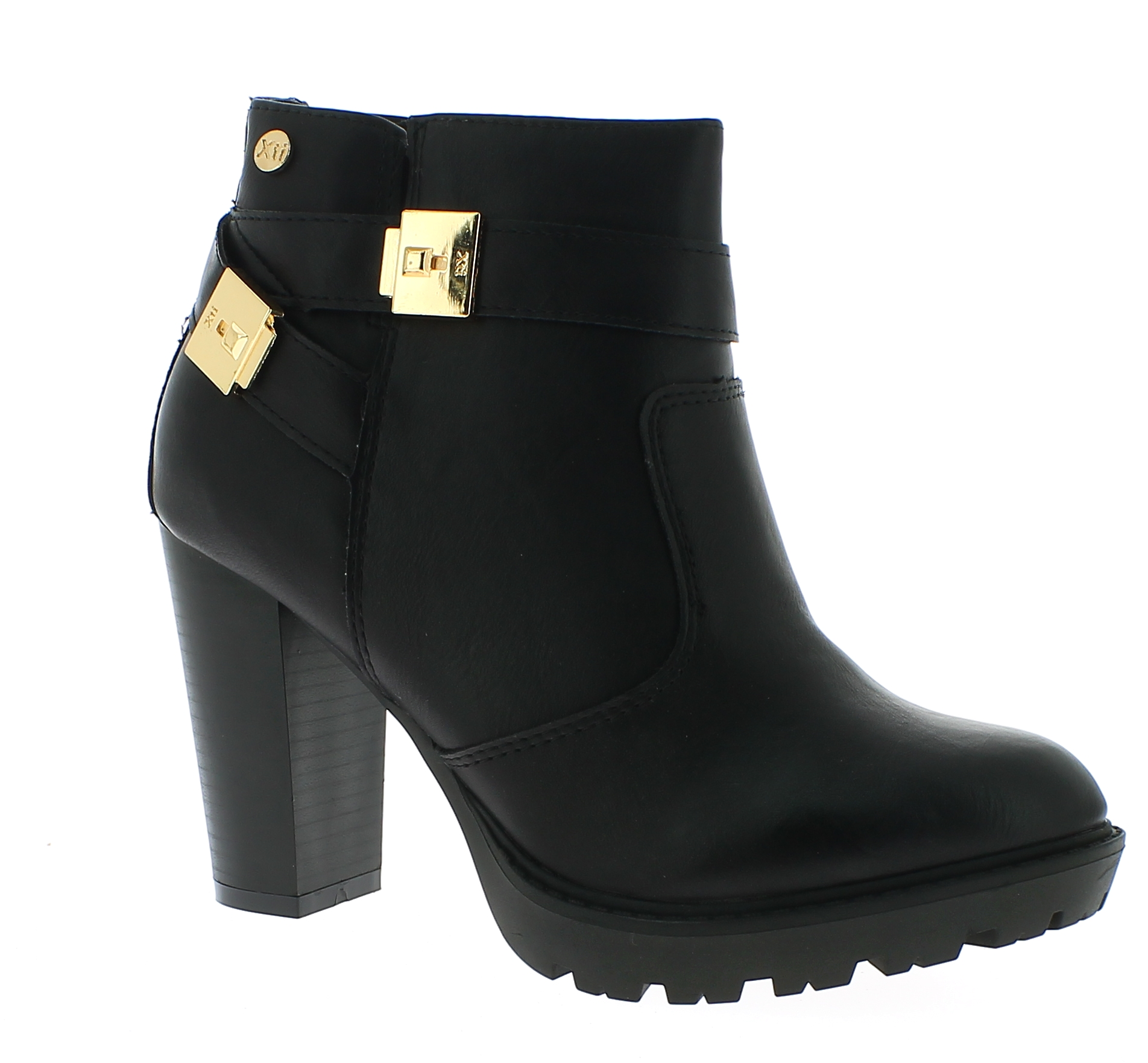 XTI Γυναικείο Μποτάκι 46055 Μαύρο - IqShoes - 46055 BLACK-black-37/1/15/27 παπούτσια  γυναικεία μποτάκια