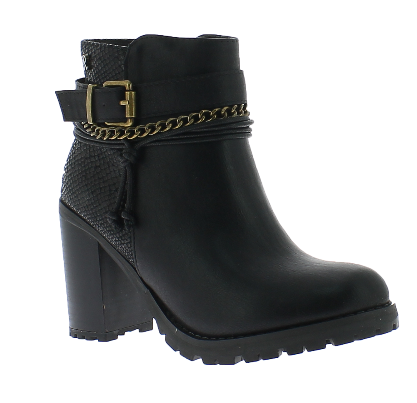 REFRESH Γυναικείο Μποτάκι 63132 Μαύρο - IqShoes - 63132 BLACK-black-36/1/15/7 παπούτσια  γυναικεία μποτάκια
