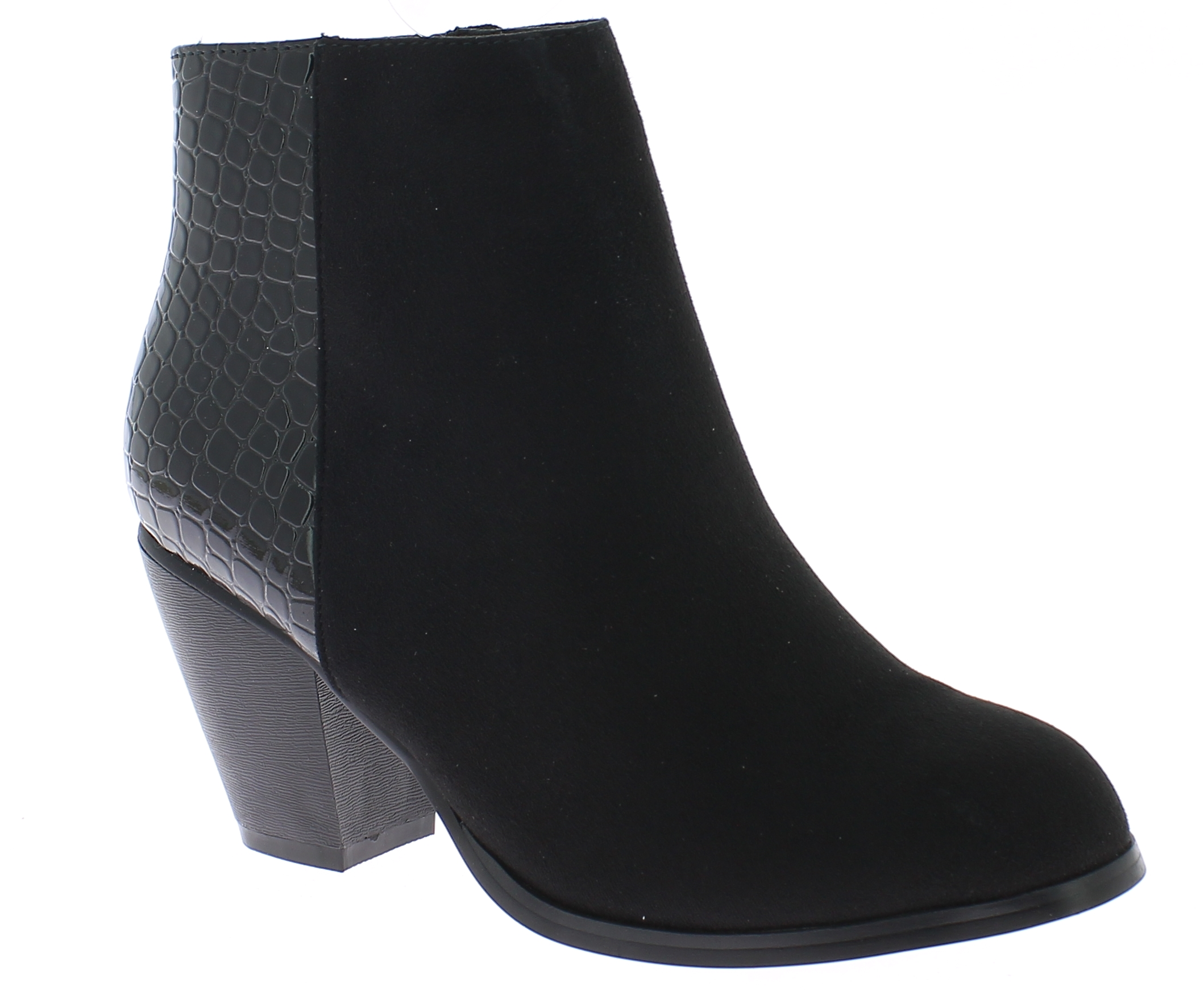 TOPWAY Γυναικείο Μποτάκι B094533 Μαύρο - IqShoes - B094533 BLACK-black-36/1/15/7 παπούτσια  γυναικεία μποτάκια