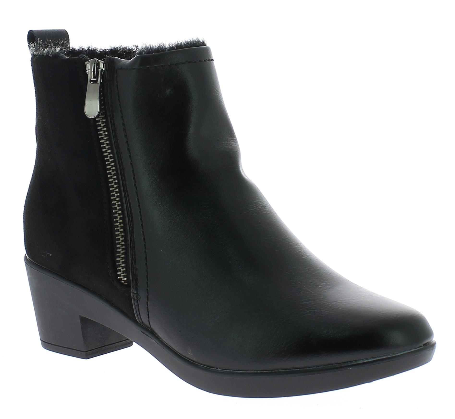 AMARPIES Γυναικείο Μποτάκι AKT9835 Μαύρο - IqShoes - AKT9835 BLACK-black-38/1/15 παπούτσια  γυναικεία μποτάκια