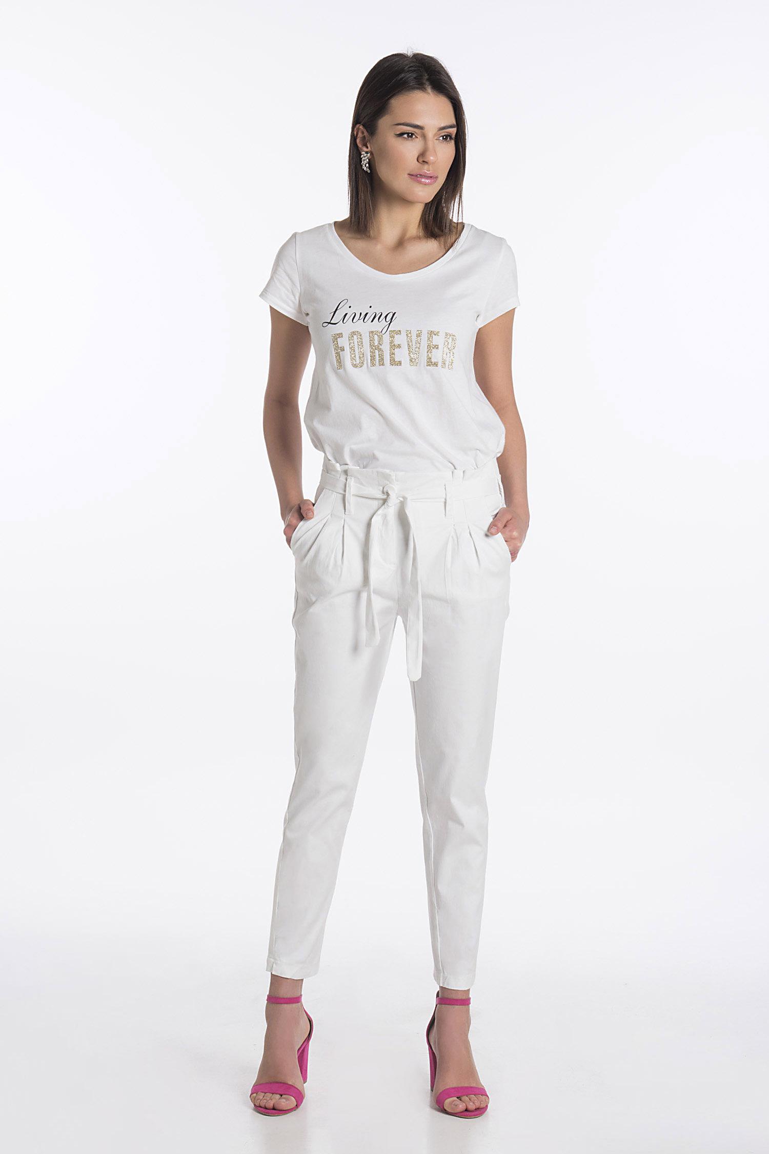 e1508d61cf8b Μονόχρωμο Υφασμάτινο Παντελόνι Με Τσέπες   Ζώνη ONLINE - ONLINE -  SP19ON-33322 ...