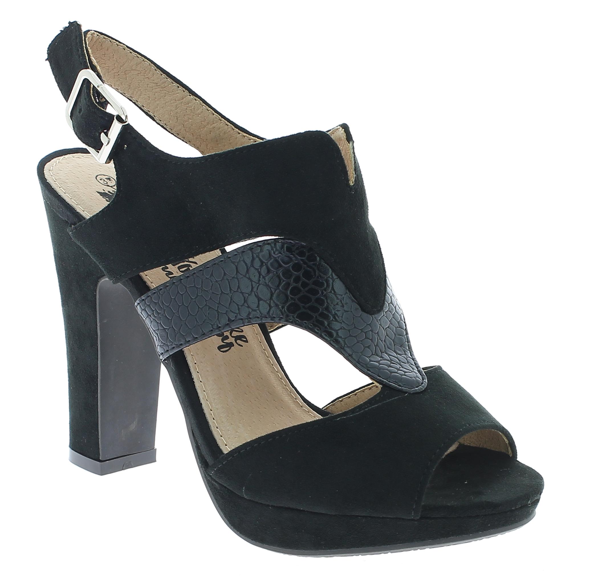 XTI Γυναικείο Πέδιλο 46626 Μαύρο - IqShoes - 46626 BLACK-black-37/1/15/27 παπούτσια  πέδιλα