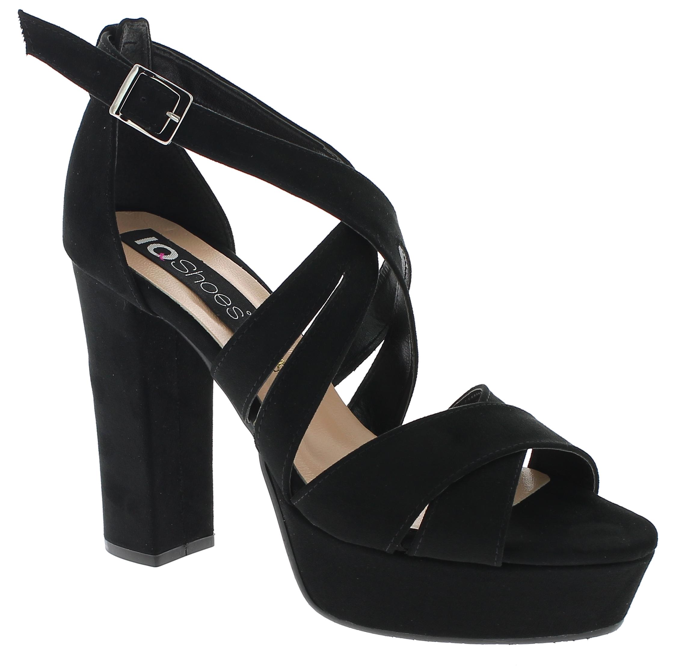 IQSHOES Γυναικείο Πέδιλο 1850 Μαύρο - IqShoes - 41.1850 BLACK -black-36/1/15/7 παπούτσια  πέδιλα