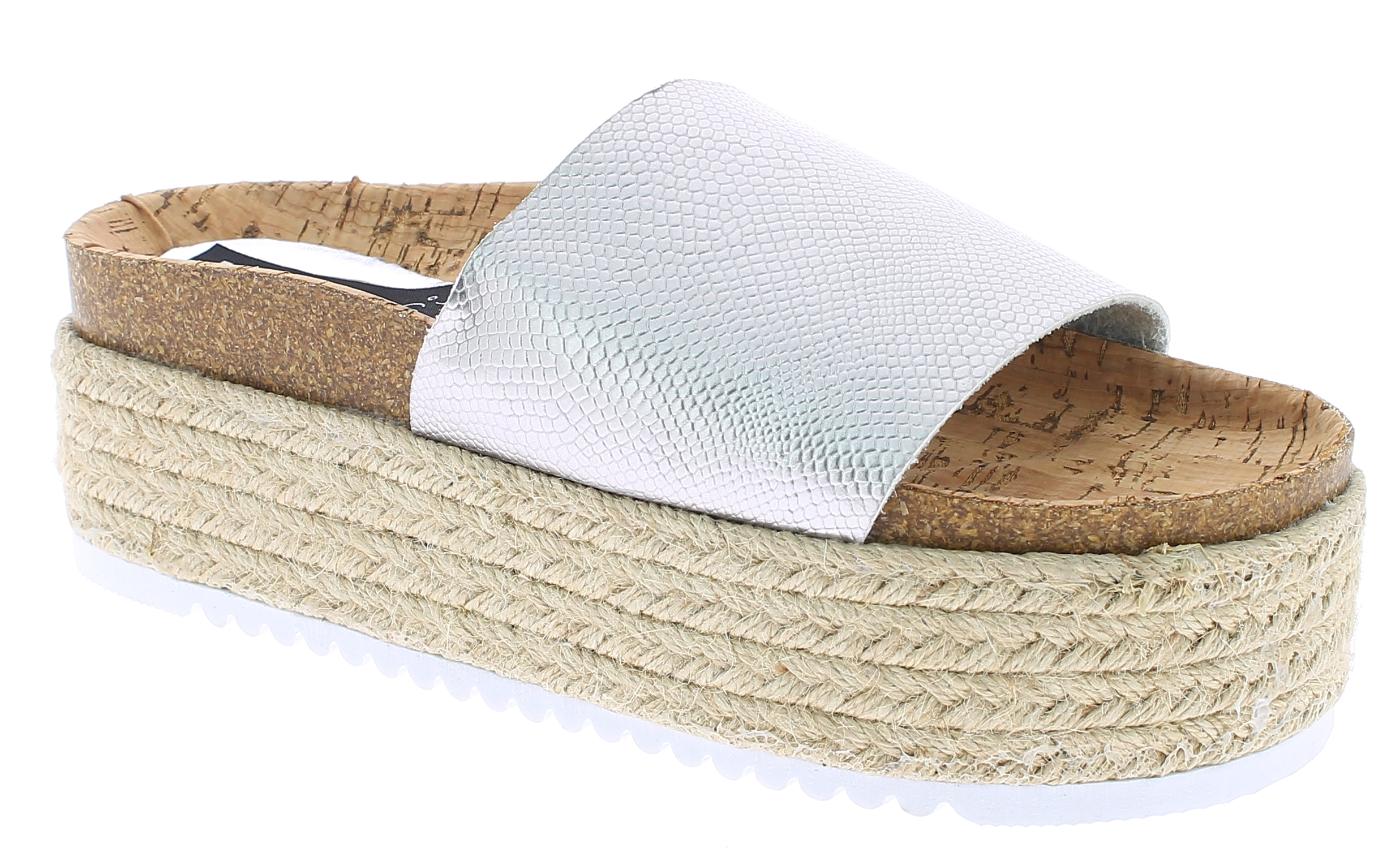 IQSHOES Γυναικεία Πλατφόρμα 1GG17075 Ασημί - IqShoes - 1GG-17075 SILVER-silver-3 παπούτσια  γυναικείες πλατφόρμες