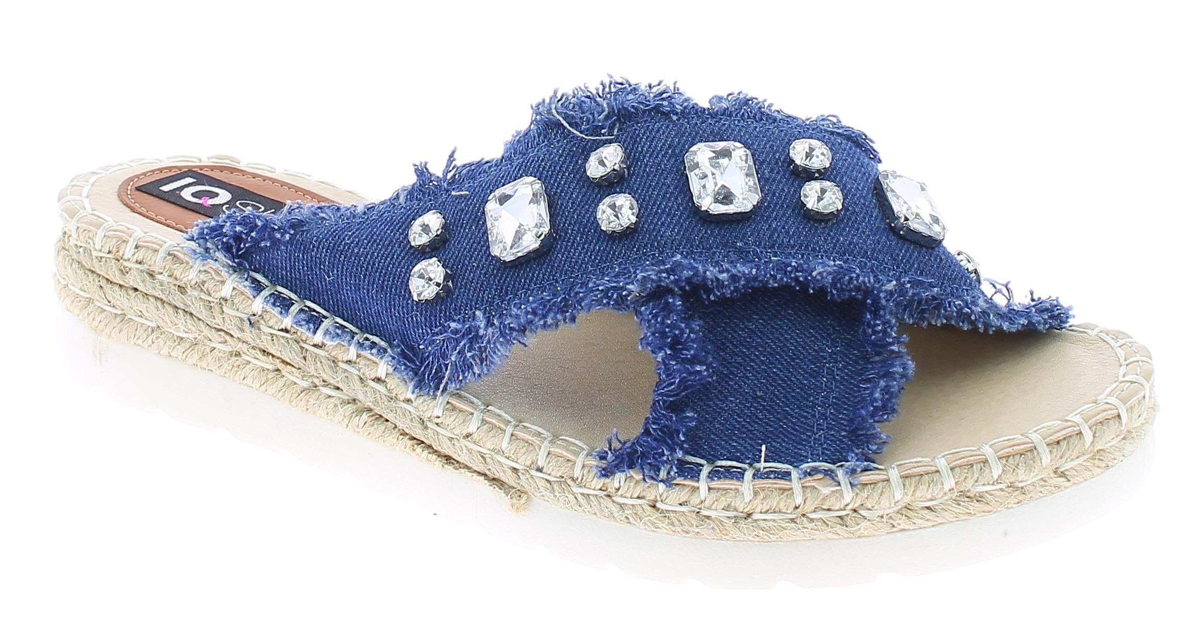 IQSHOES Γυναικεία Πλατφόρμα 17015 Μπλέ - IqShoes - 1701-5 BLUE-blue-36/1/23/7 παπούτσια  γυναικείες πλατφόρμες