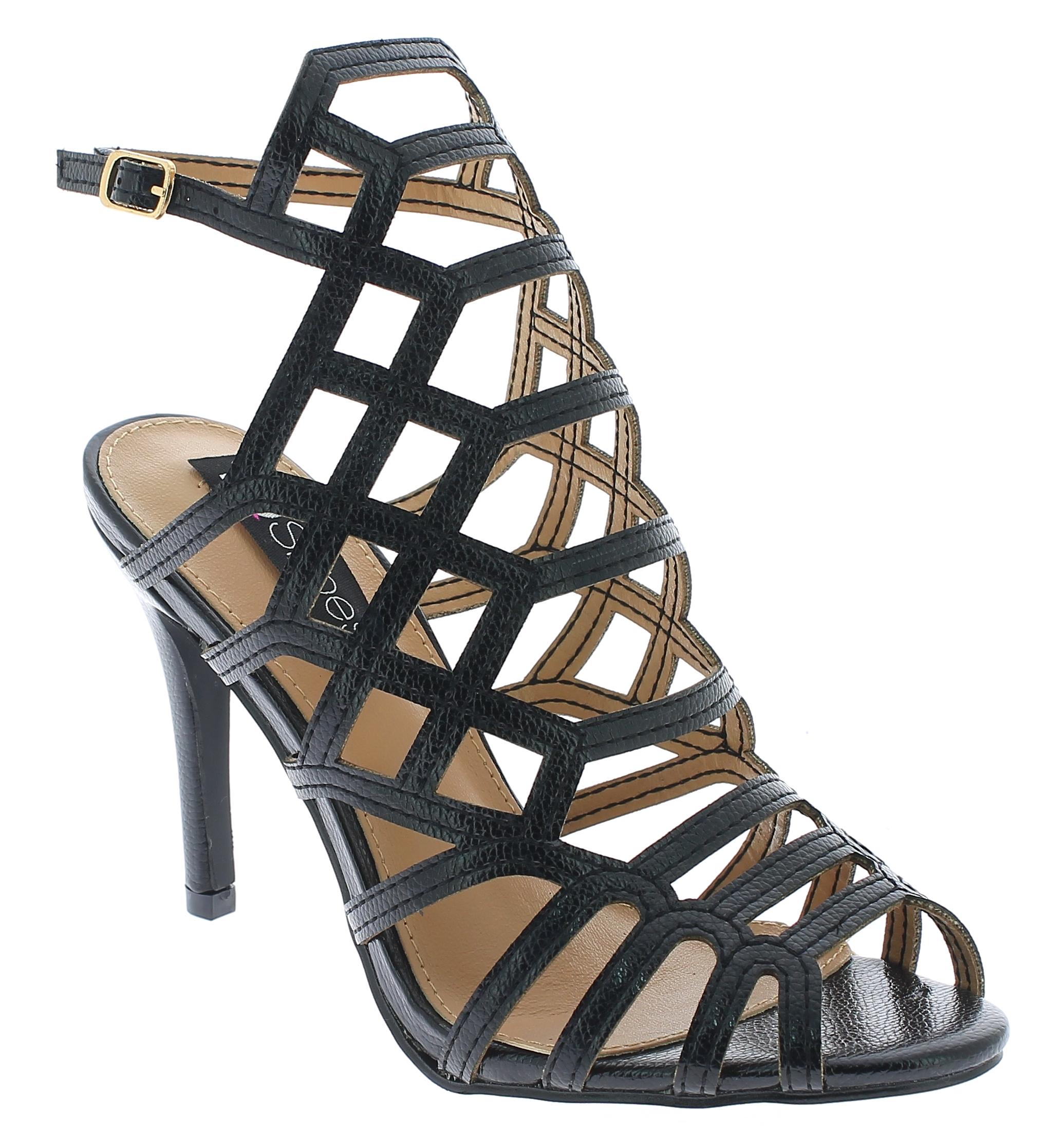 IQSHOES Γυναικείο Πέδιλο 1BL17061 Μαύρο - IqShoes - 1BL17061 BLACK-black-36/1/15 παπούτσια  πέδιλα
