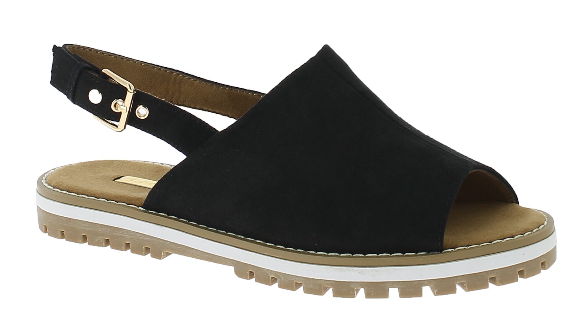 CORINA Γυναικείο Πέδιλο C7342 Μαύρο - IqShoes - C7342 BLACK-black-37/1/15/27 παπούτσια  πέδιλα