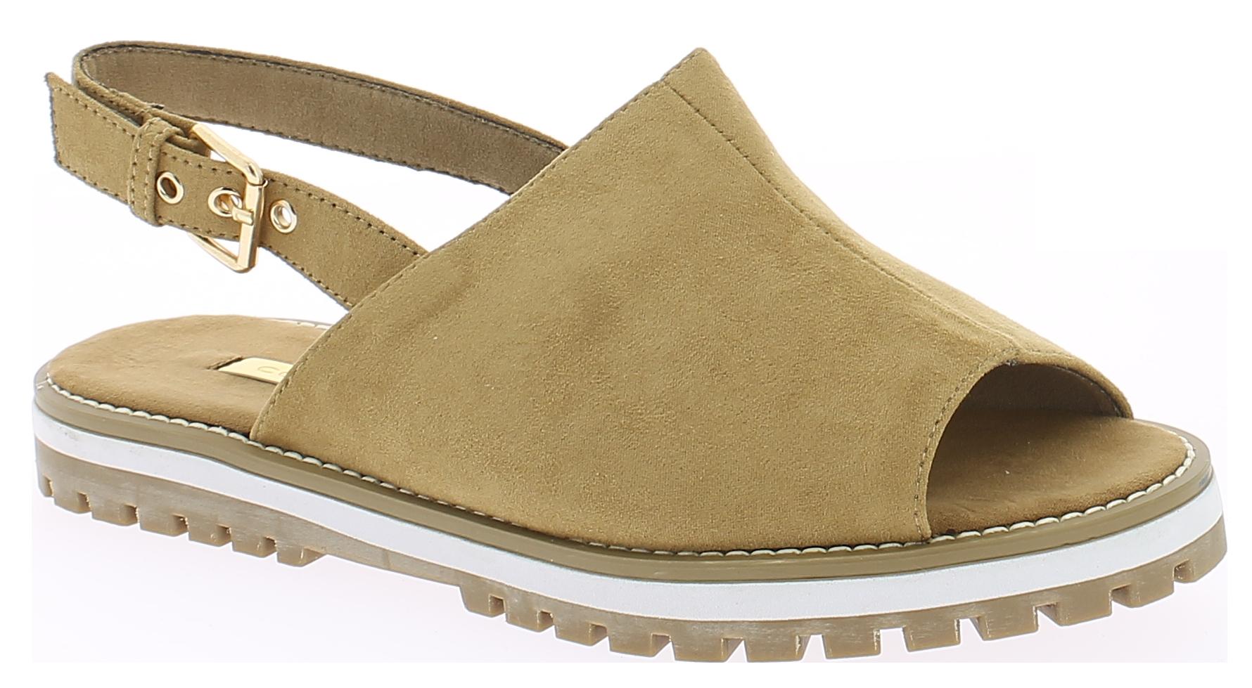 CORINA Γυναικείο Πέδιλο C7342 Κάμελ - IqShoes - C7342 CAMEL-camel-38/1/25/11 παπούτσια  πέδιλα