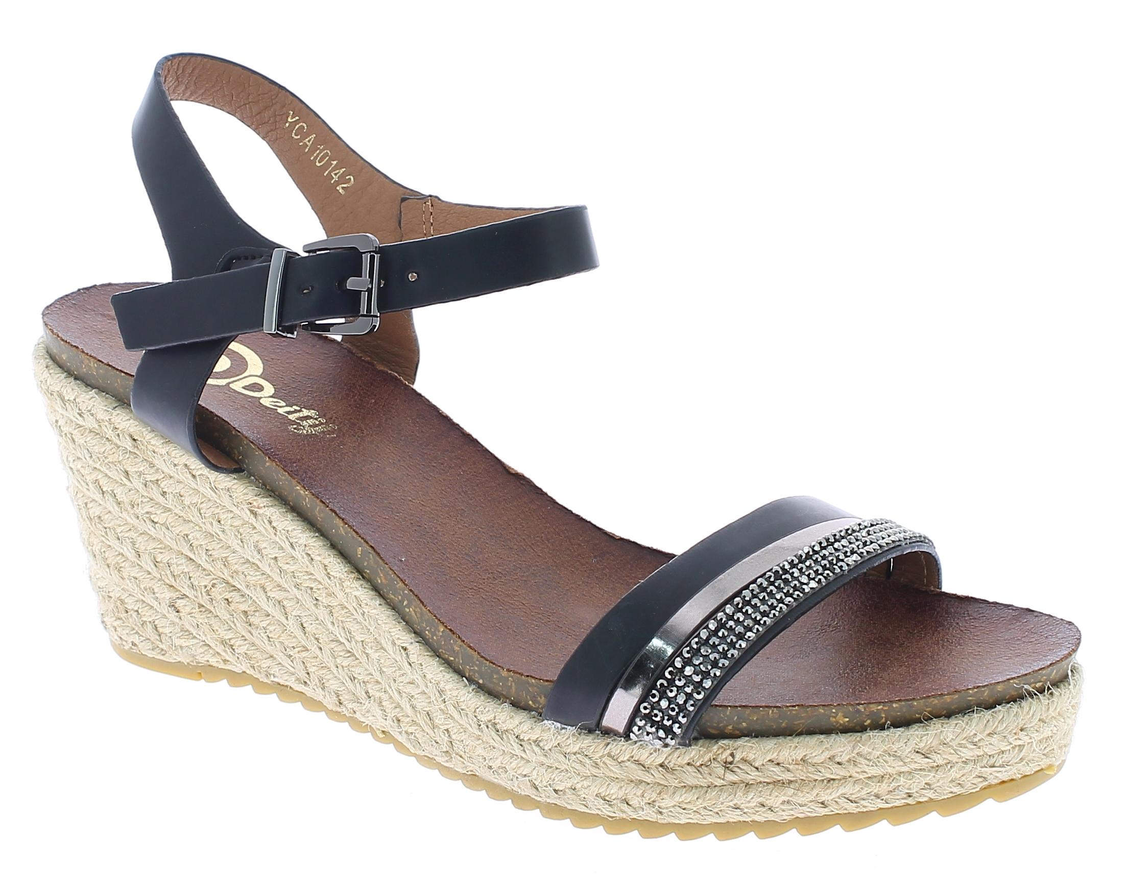 DEITIJ Γυναικεία Πλατφόρμα YCA10142 Μαύρο - IqShoes - YCA10142 BLACK-black-37/1/ παπούτσια  γυναικείες πλατφόρμες