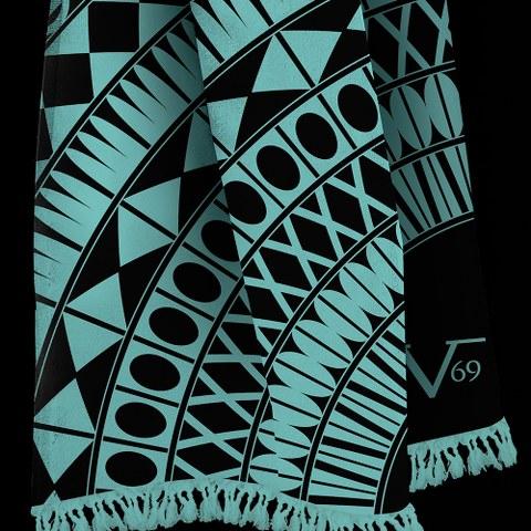 Πετσέτα - Παρεό - Ριχτάρι V19.69 Italia Tribal Tirquoise - Versace 19.69 Abbigli swim  πετσέτες θαλάσσης