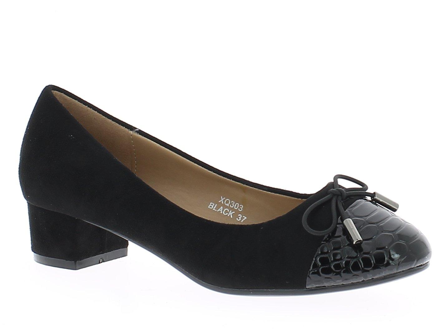 IQSHOES Γυναικεία Γόβα XQ303 Μαύρο - IqShoes - XQ303 black 38/1/15/11 παπούτσια  προσφορεσ