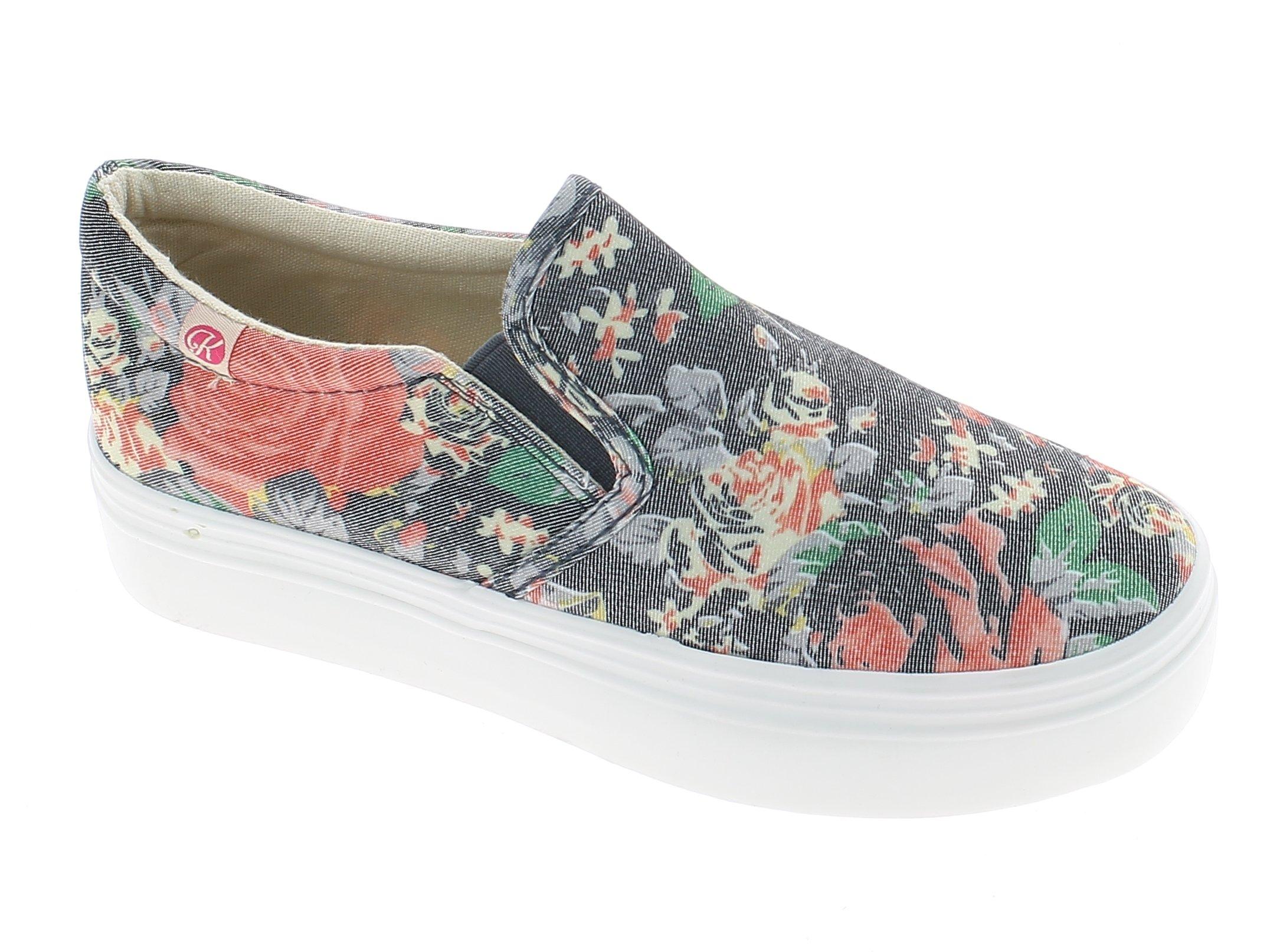 IQSHOES Γυναικείο Casual 1520003 Γκρί - IqShoes - 1520003 FLOWERS red 38/1/3/11 προϊόντα παπούτσια