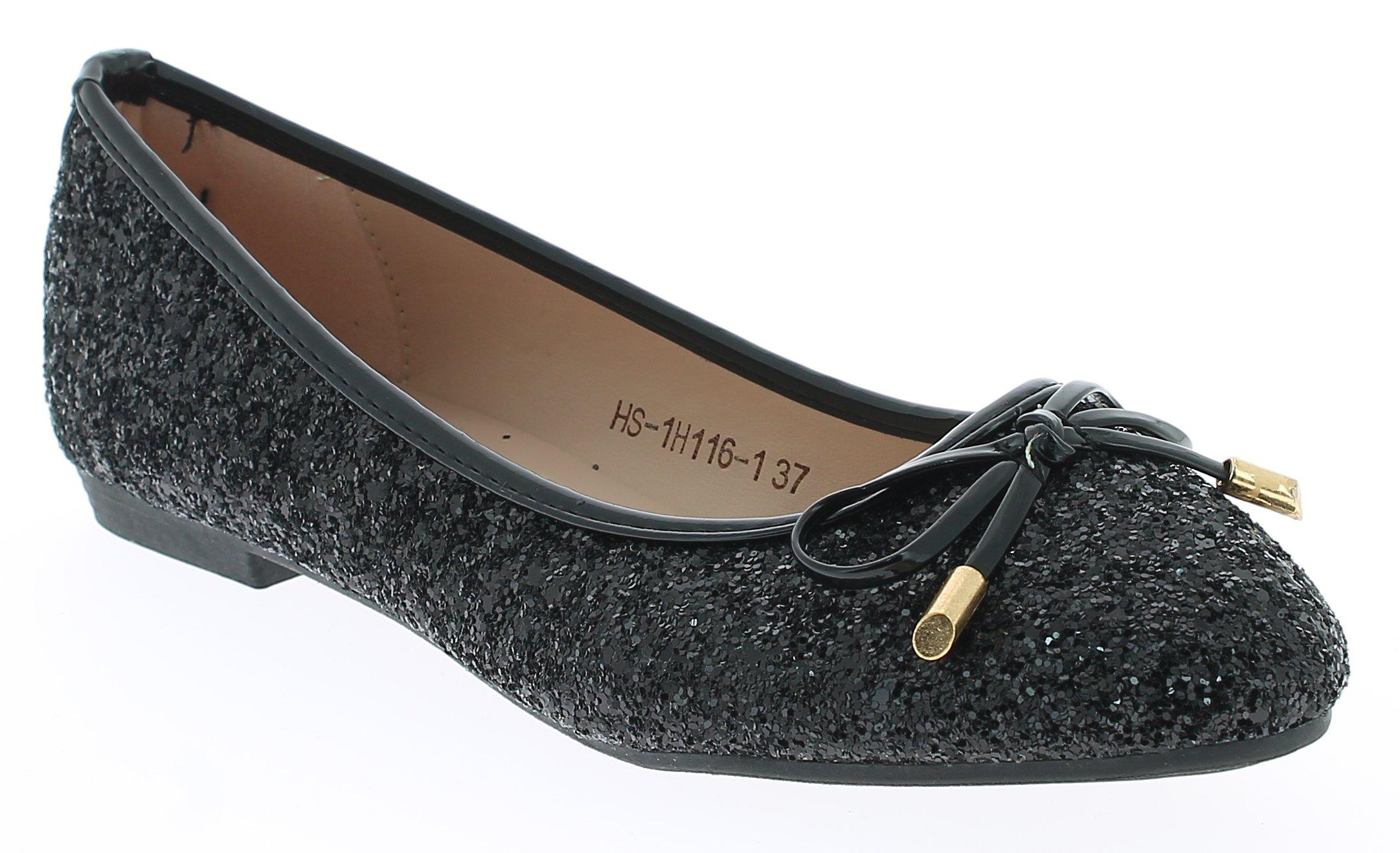 Γυναικείες Μπαλαρίνες HS1H1161 Μαύρο - IqShoes - HS-1H116-1 BLACK-37/1/15/27 προϊόντα παπούτσια