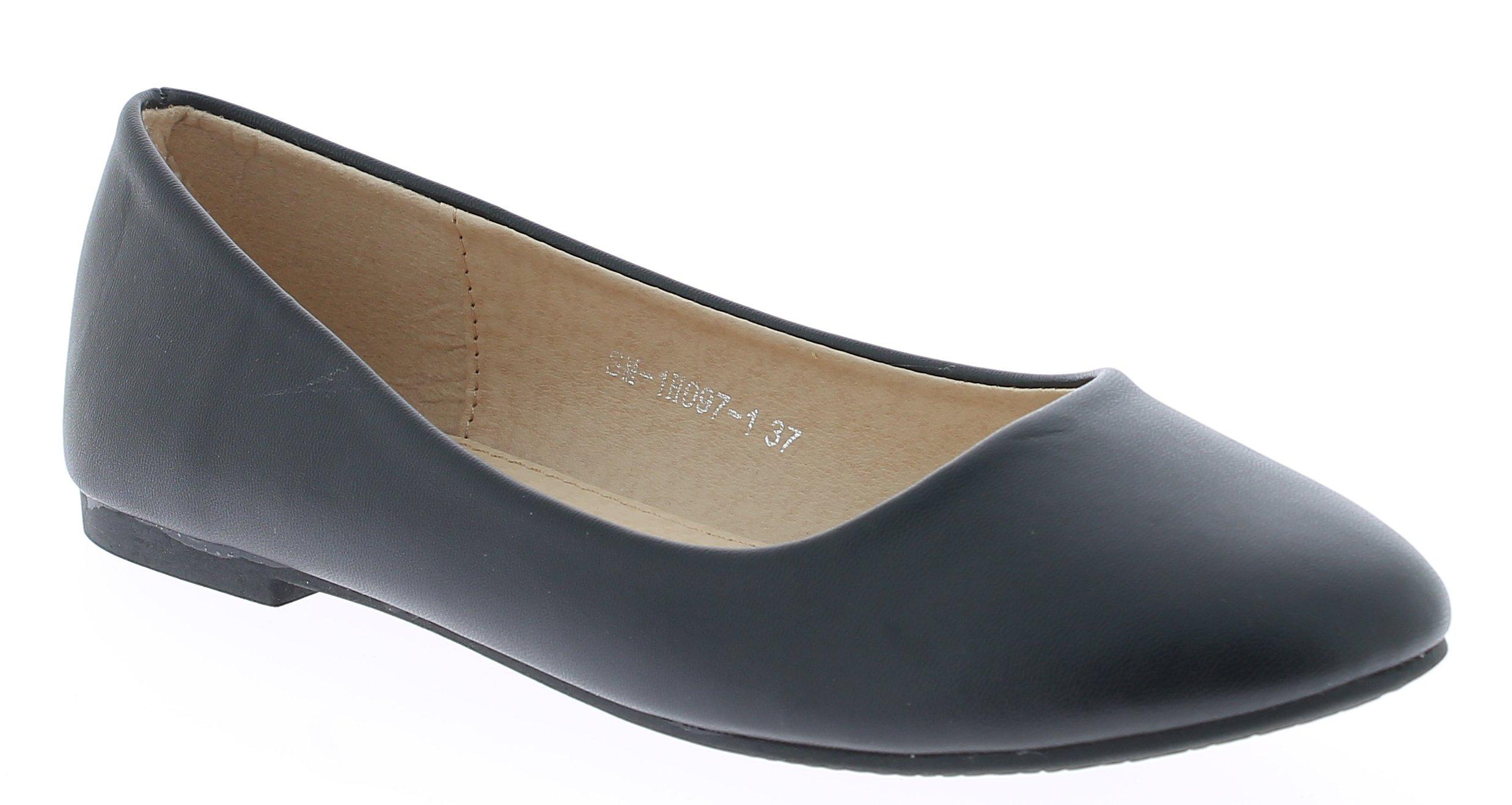 Γυναικείες Μπαλαρίνες SM1H0971 Μαύρο - IqShoes - SM-1H091-1 BLACK-37/1/15/27