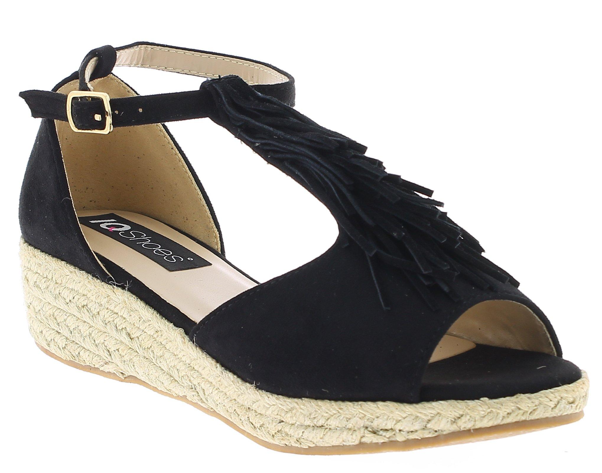 IQSHOES Γυναικείο Πέδιλο 3H048 Μαύρο - IqShoes - 18.3H048 BLACK -IQSHOES-black-3 παπούτσια  γυναικεία σανδάλια   πέδιλα