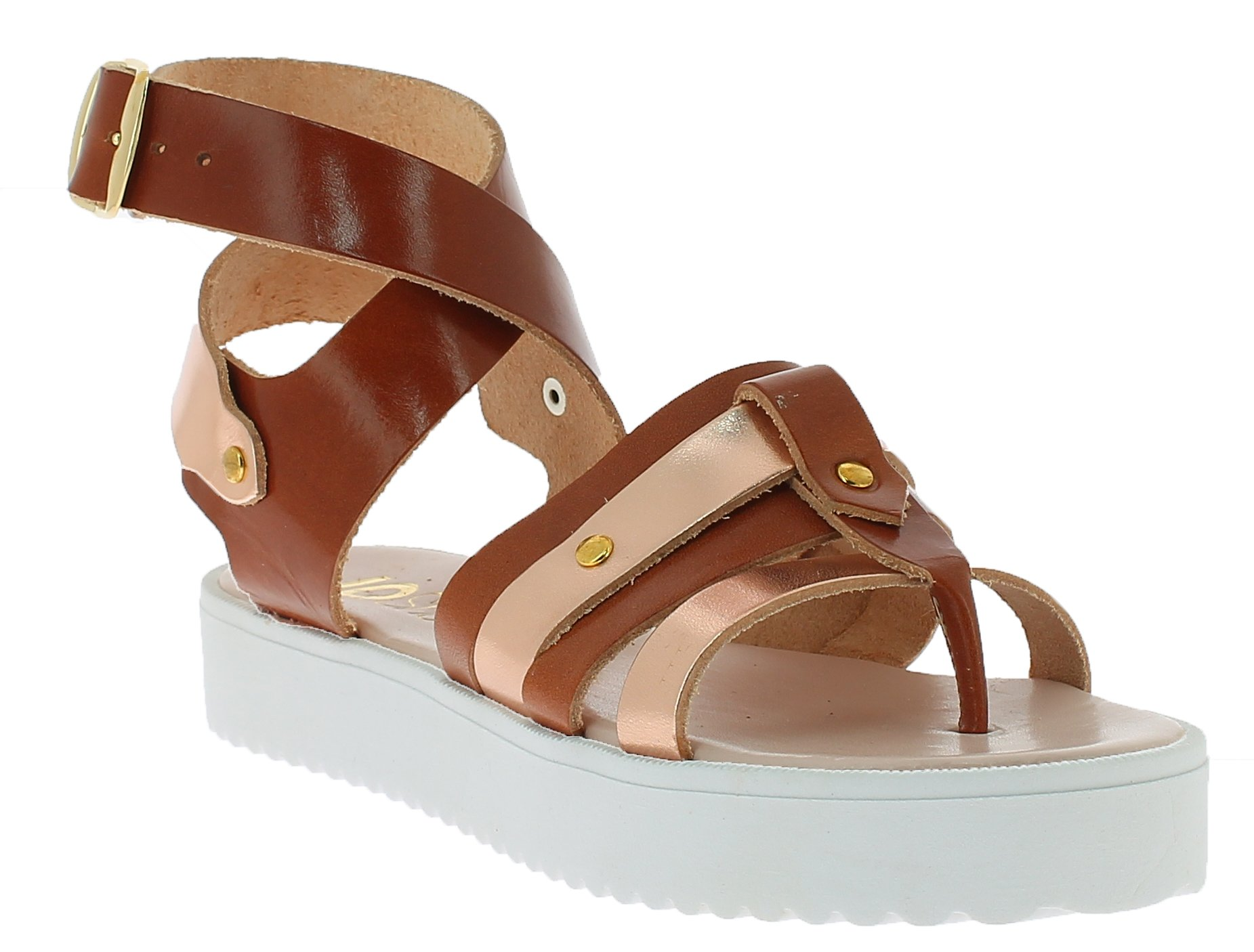 IQSHOES Γυναικείο Πέδιλο B45 Μπρονζέ - IqShoes - 50.B45T bronze-bronze-36/1/34/7 παπούτσια  προσφορεσ