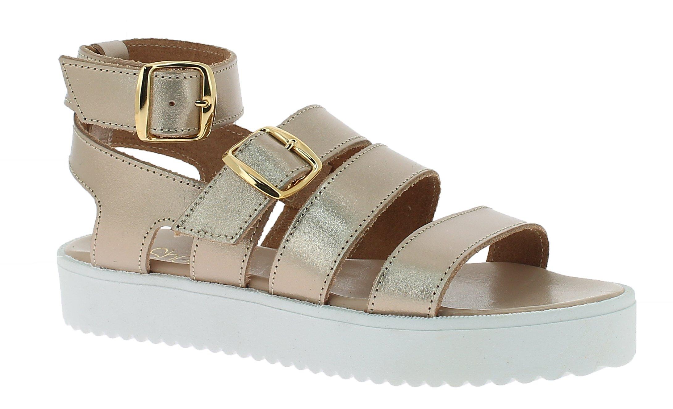 IQSHOES Γυναικείο Πέδιλο B85 Χρυσό - IqShoes - 50.B85 gold-gold-38/1/34/11 παπούτσια  προσφορεσ