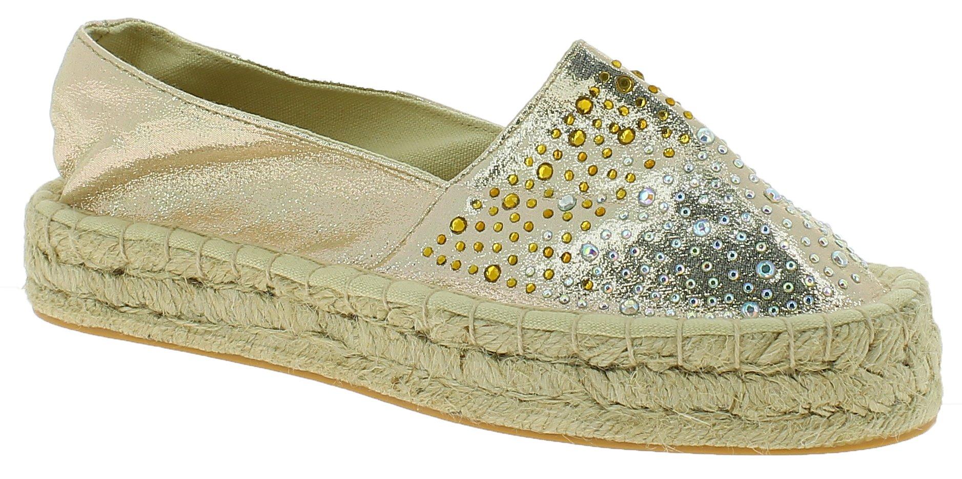 POMPEA Γυναικείο Casual LITA 215 Χρυσό - IqShoes - LITA 215 GOLD-gold-36/1/34/7 παπούτσια  προσφορεσ