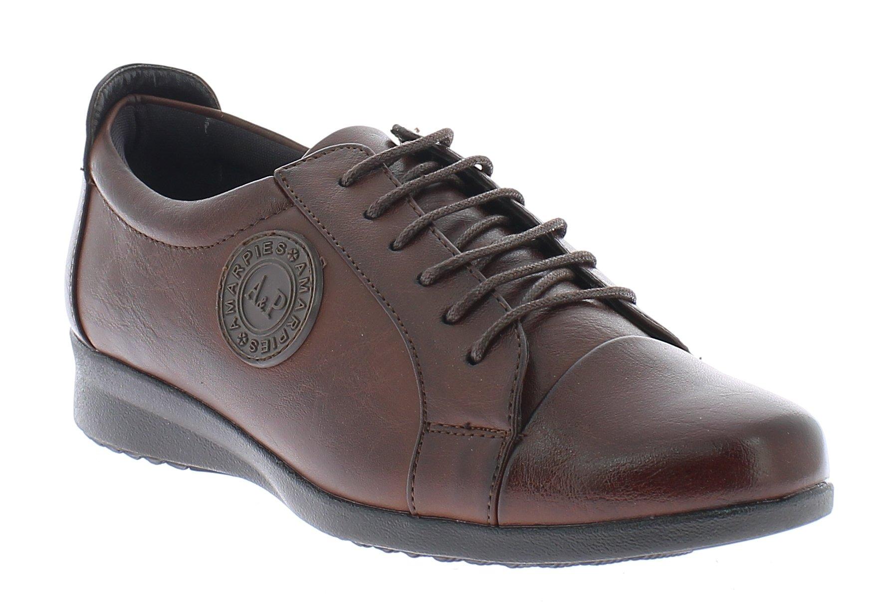 AMARPIES Γυναικεία Comfort AKT9808 Καφέ - IqShoes - AKT9808 BROWN-brown-35/1/24/ προϊόντα παπούτσια