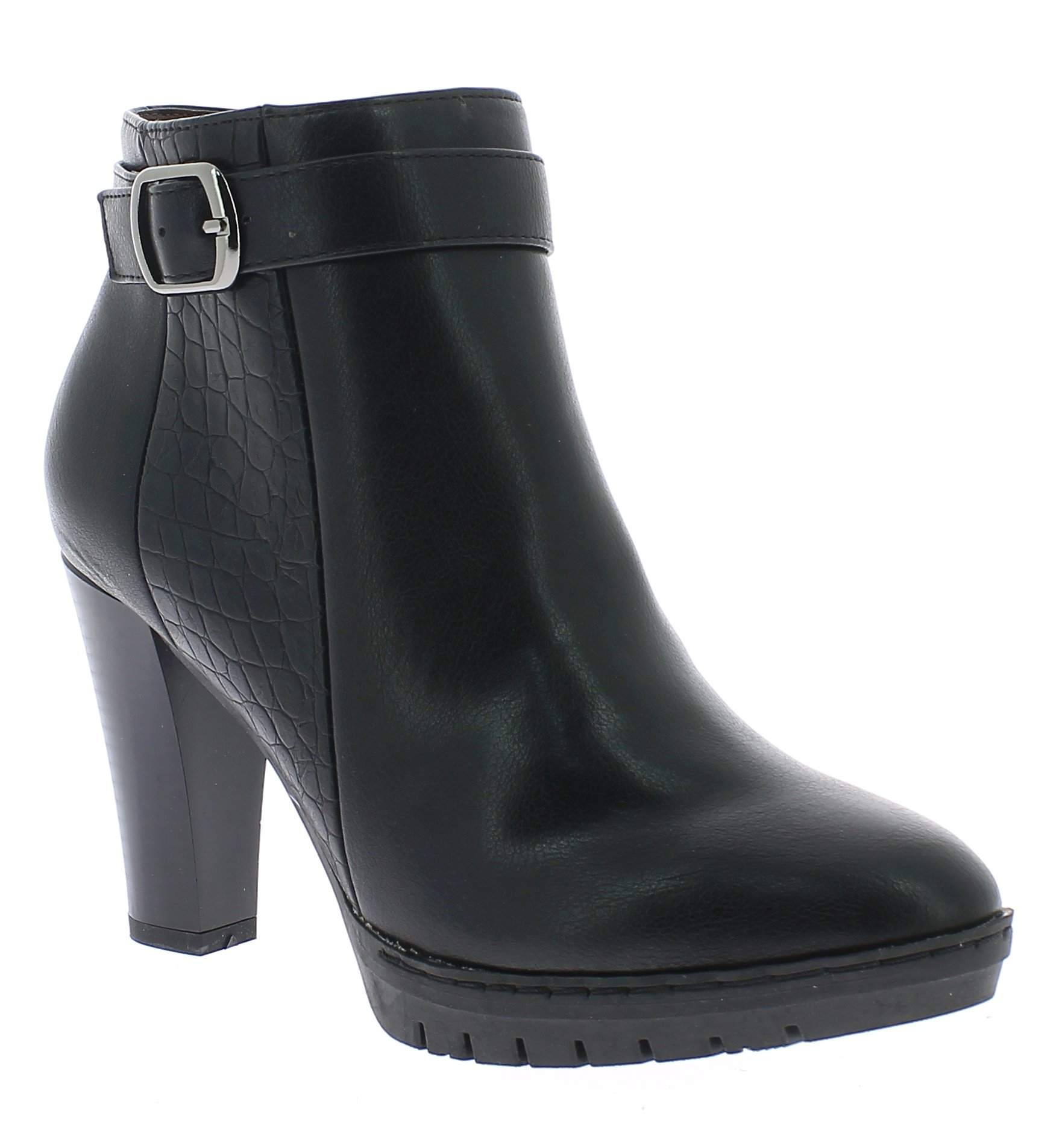 BALLERI Γυναικείο Μποτάκι BL16283 Μαύρο - IqShoes - BL1628-3 BLACK -black-37/1/1 παπούτσια  γυναικεία μποτάκια