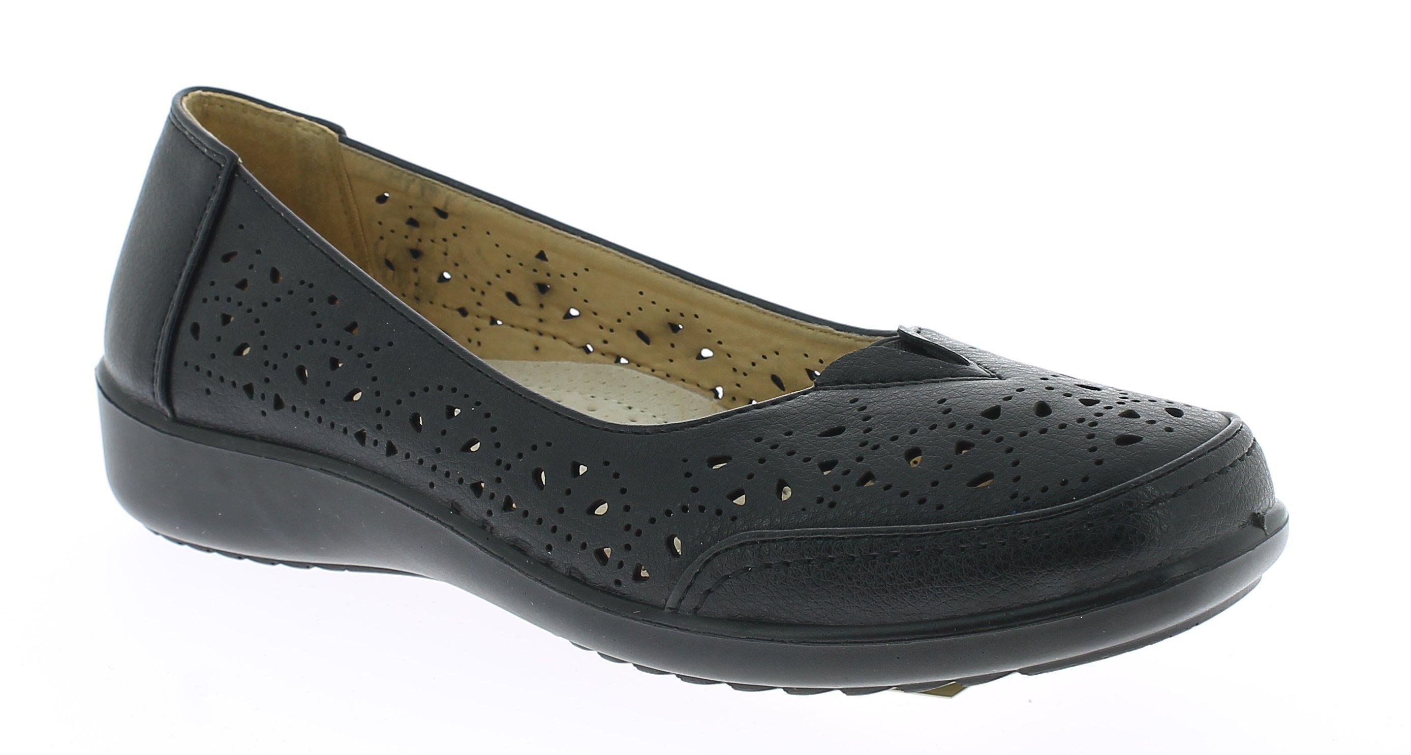 ANTRIN Γυναικείο Comfort NICOLE-105 Μαύρο - IqShoes - NICOLE-105 BLACK -black-39 προϊόντα παπούτσια