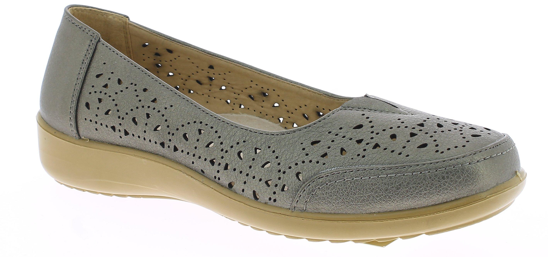 ANTRIN Γυναικείο Comfort NICOLE-105 Ασημί - IqShoes - NICOLE-105 PEWTER-silver-3 προϊόντα παπούτσια