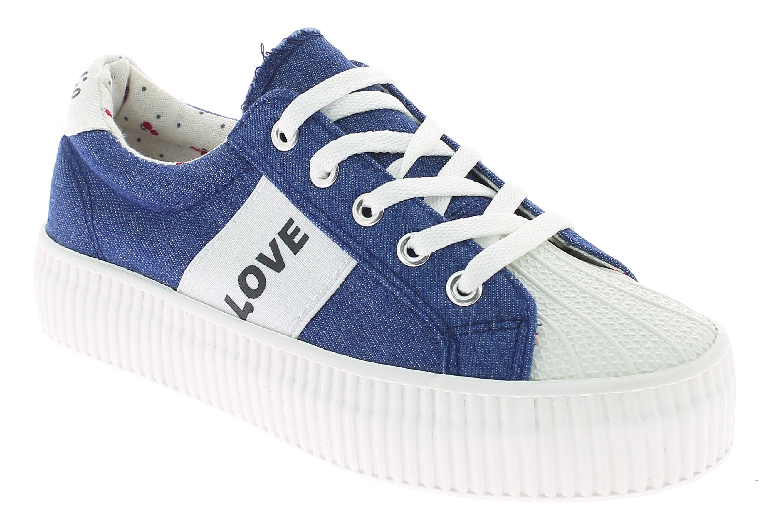 KYLIE Γυναικείο Casual K1720302 Τζίν - IqShoes - K1720302 JEAN-blue-41/1/23/28 προϊόντα παπούτσια
