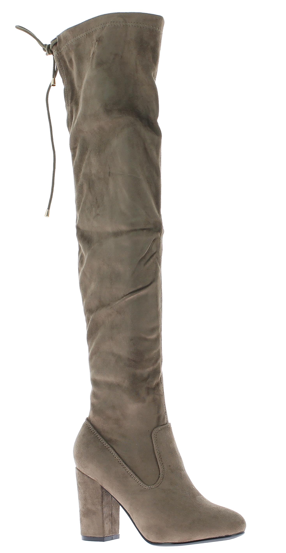 IQSHOES Γυναικεία Μπότα HX0176 Μπεζ - IqShoes - HX0176 KHAKI-beige-38/1/7/11 παπούτσια  γυναικεία μποτάκια