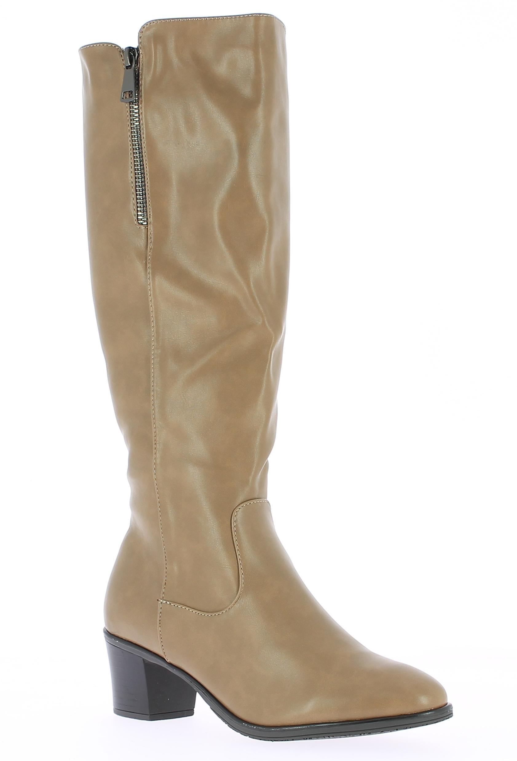 IQSHOES Γυναικεία Μπότα HX55 Μπεζ - IqShoes - HX-55 KHAKI-beige-37/1/7/27 παπούτσια  γυναικεία μποτάκια