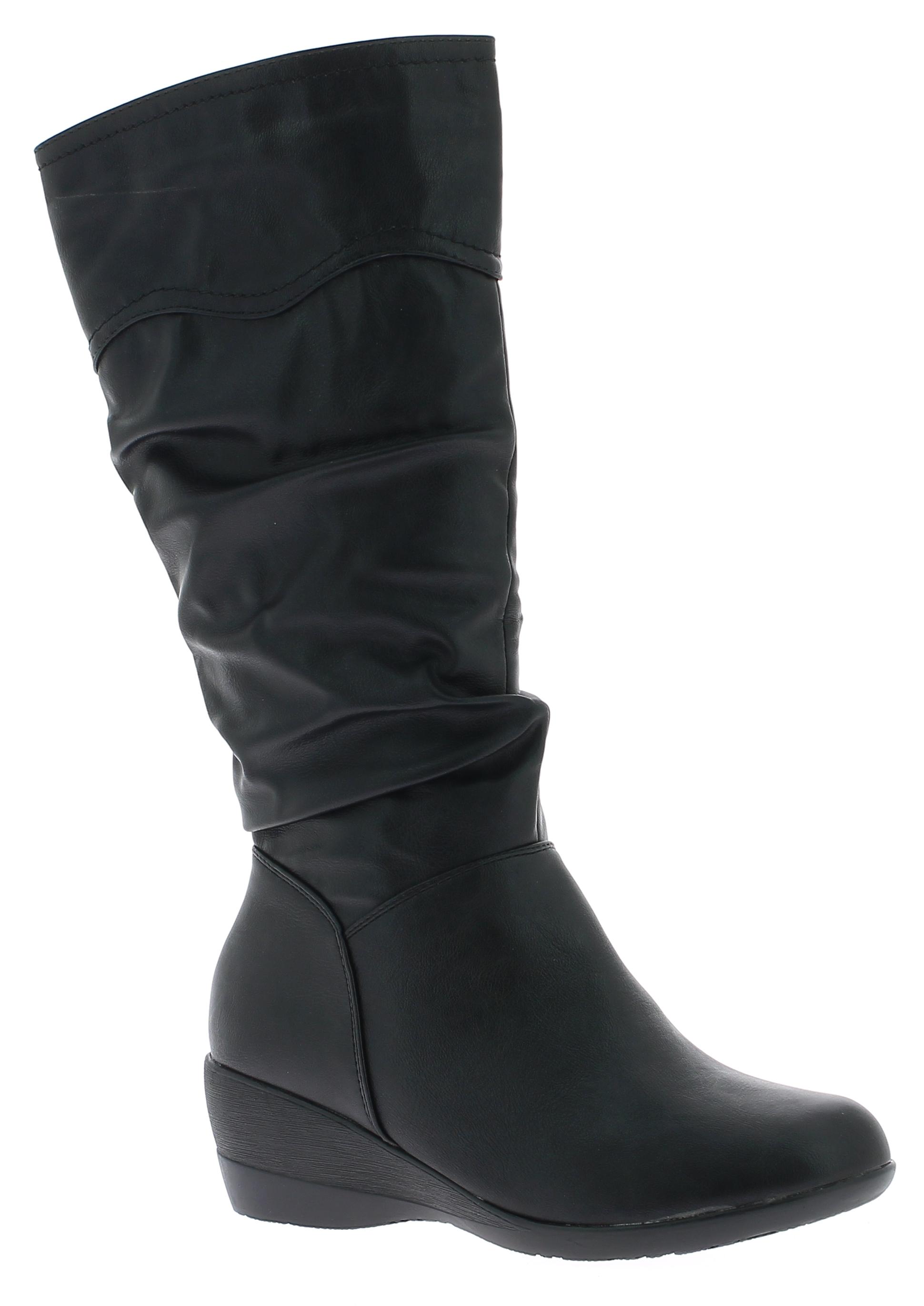 IQSHOES Γυναικεία Μπότα FS223 Μαύρο - IqShoes - FS223 BLACK-black-36/1/15/7 παπούτσια  γυναικεία μποτάκια