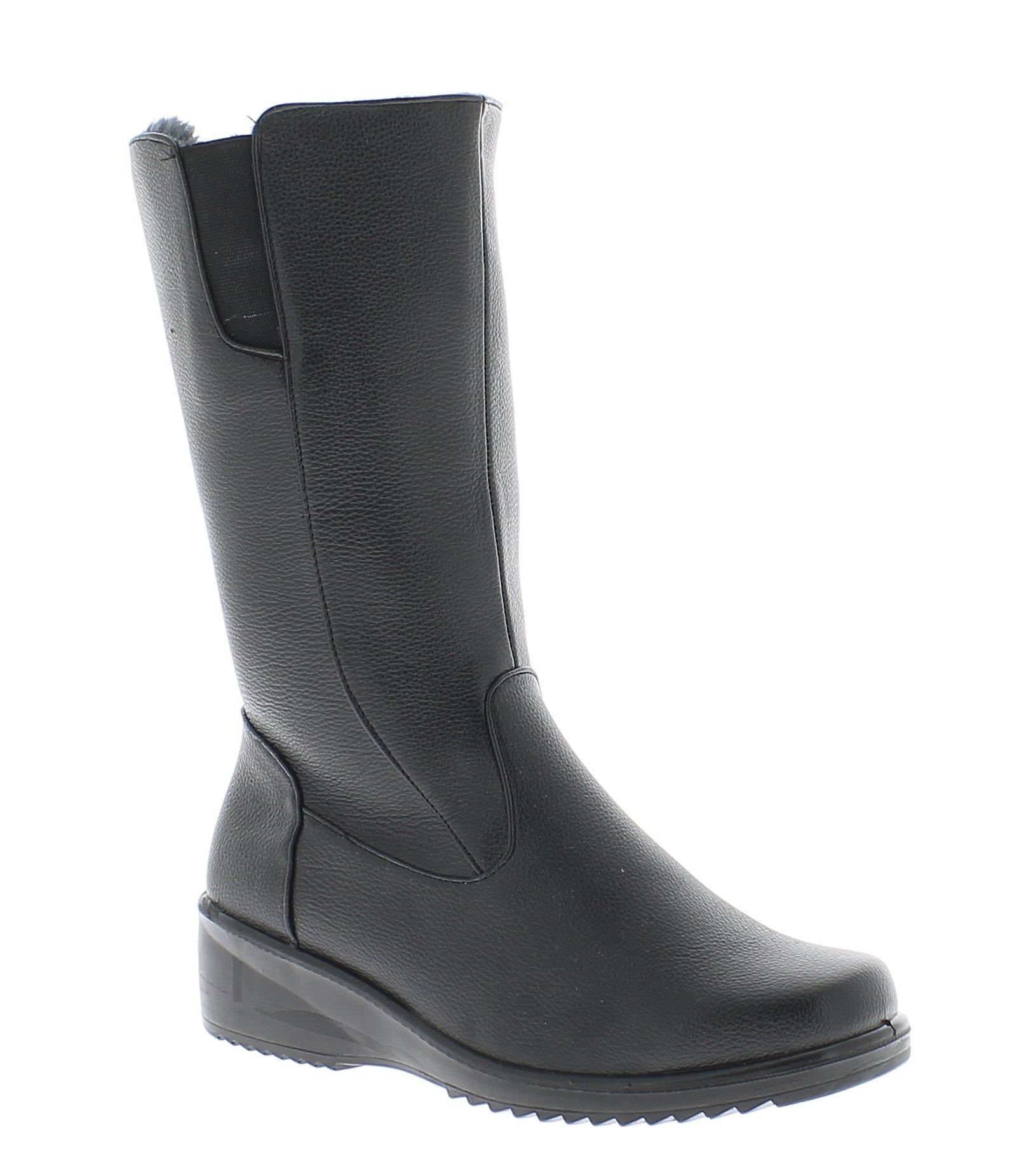 ANTRIN Γυναικεία Μπότα BARBARA-110 Μαύρο - IqShoes - BARBARA-110 BLACK -black-38 παπούτσια  γυναικεία μποτάκια