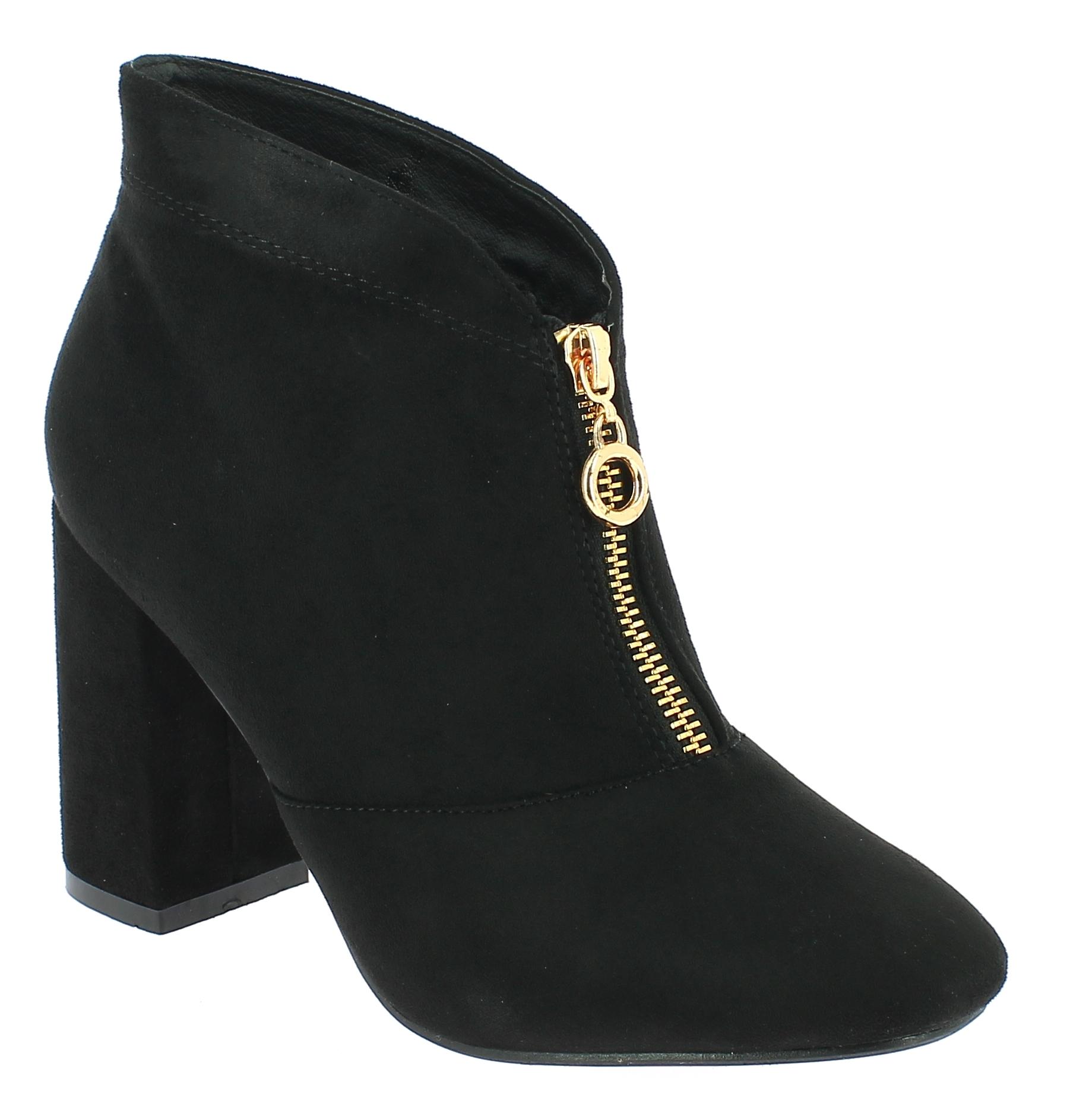 TOPWAY Γυναικείο Μποτάκι B097833 Μαύρο - IqShoes - B097833 BLACK-black-36/1/15/7 παπούτσια  γυναικεία μποτάκια