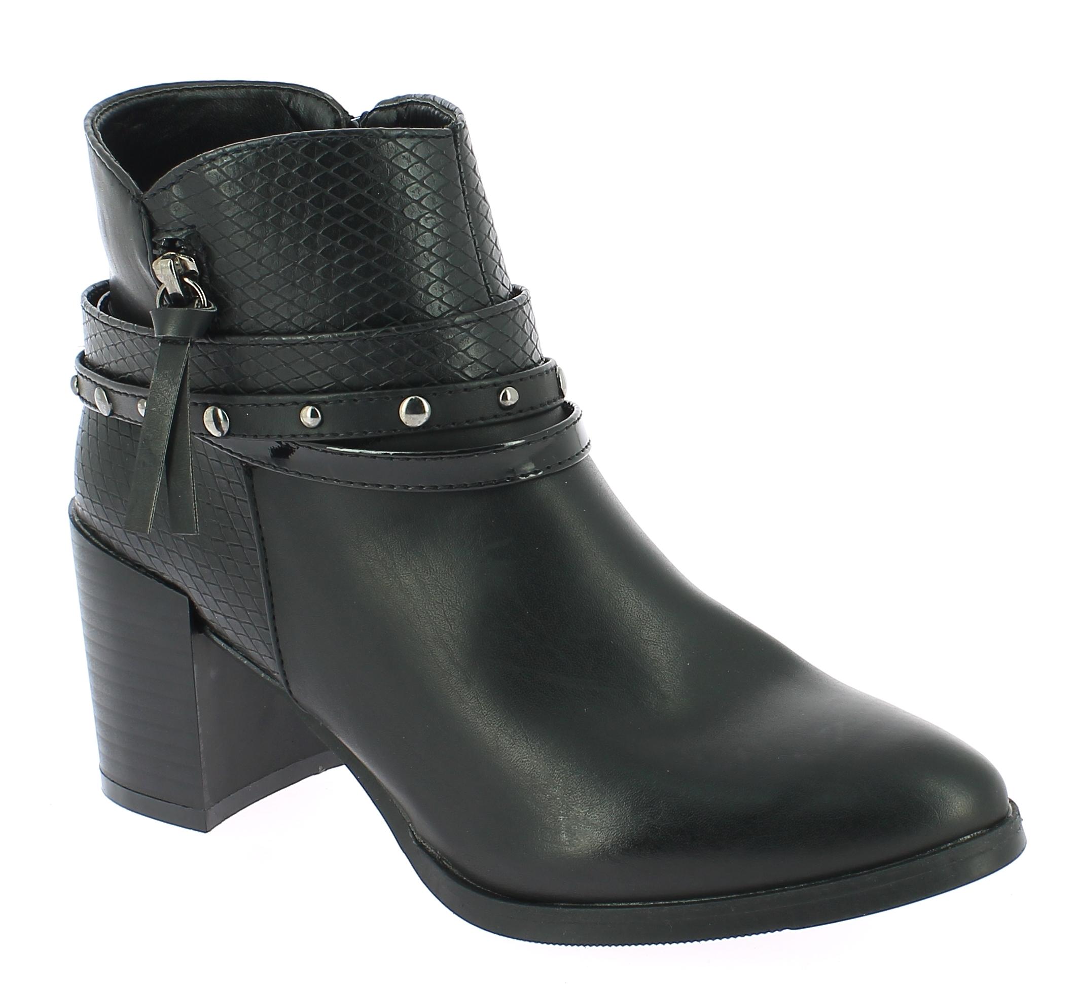 TOPWAY Γυναικείο Μποτάκι B099610 Μαύρο - IqShoes - B099610 BLACK-black-37/1/15/2 παπούτσια  γυναικεία μποτάκια