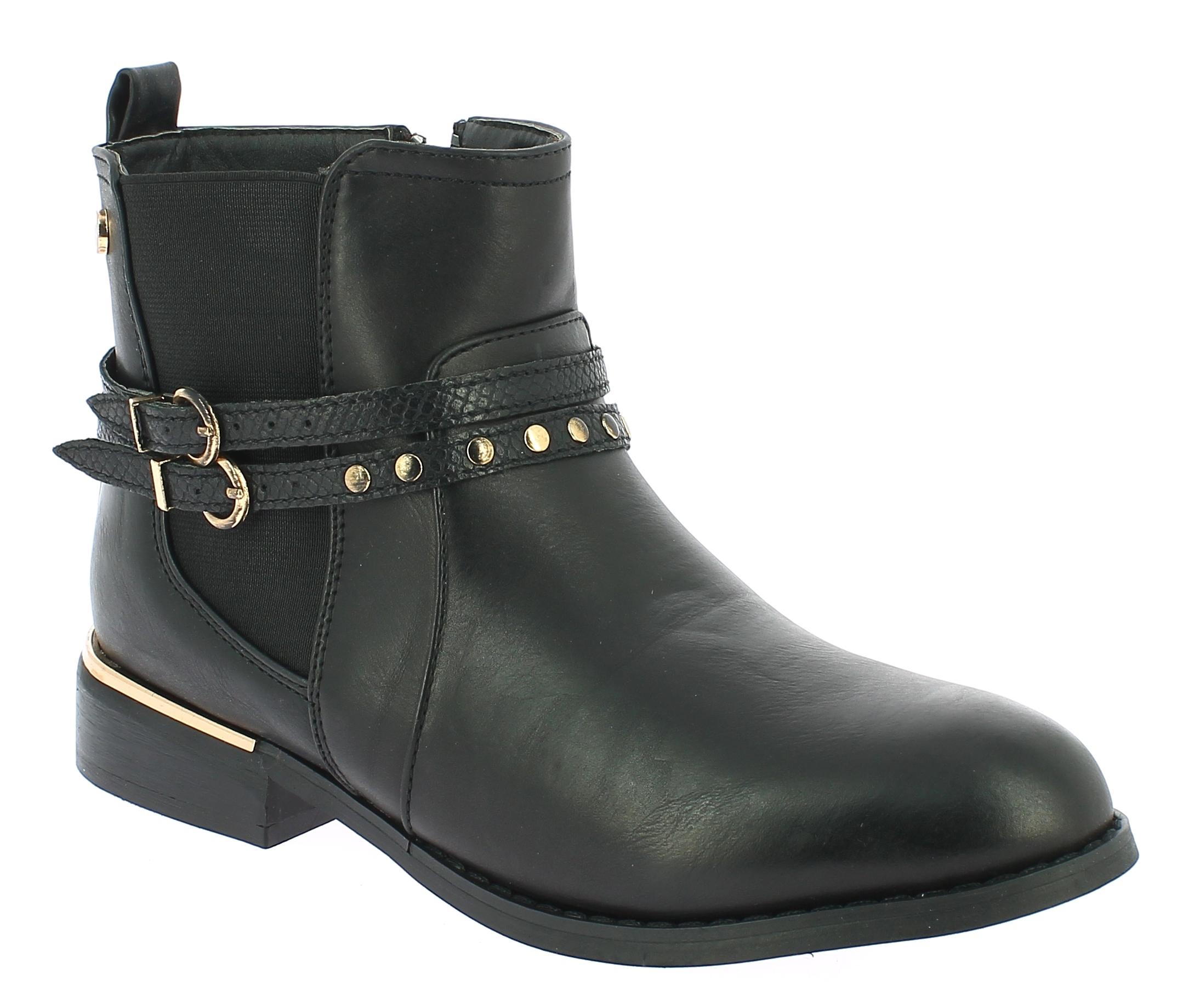 TOPWAY Γυναικείο Μποτάκι B750020 Μαύρο - IqShoes - B750020 BLACK-black-36/1/15/7 παπούτσια  γυναικεία μποτάκια