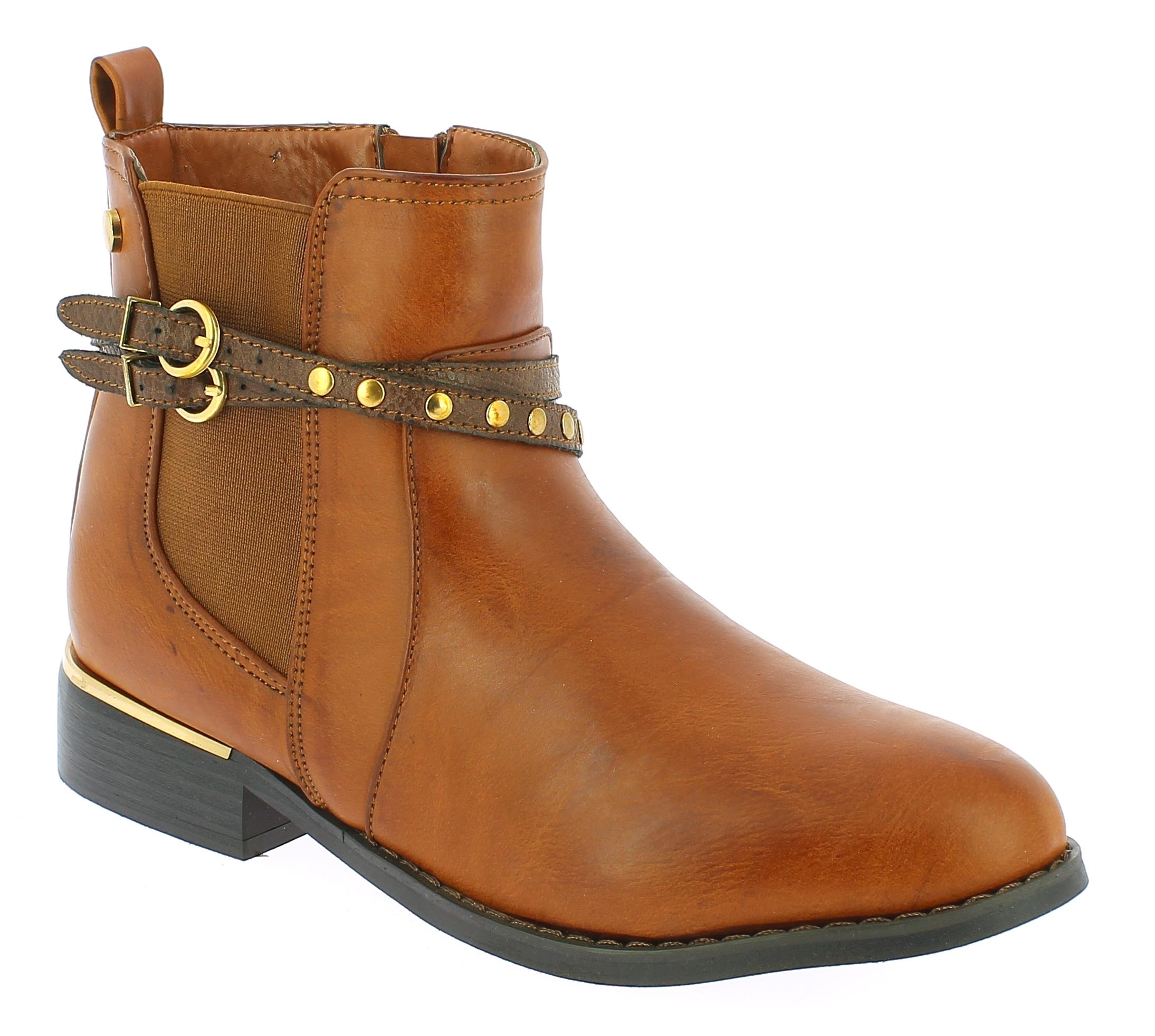 TOPWAY Γυναικείο Μποτάκι B750020 Καφέ - IqShoes - B750020 BROWN-brown-36/1/24/7 παπούτσια  γυναικεία μποτάκια