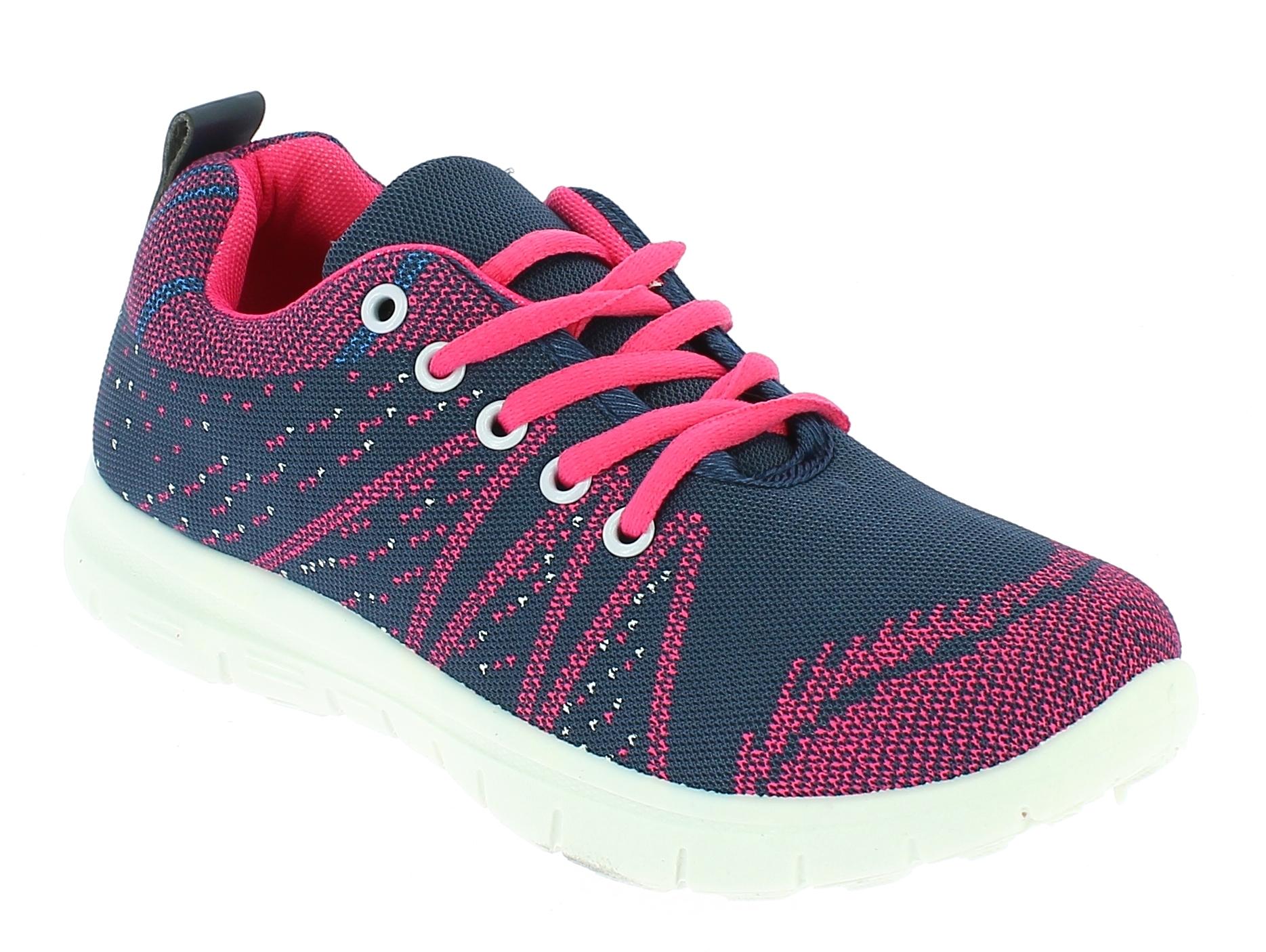 D.T NEW YORK Γυναικείο Αθλητικό B415613 Mπλέ/Φούξια - IqShoes - B415613 BLUE/FUC παπούτσια  new in