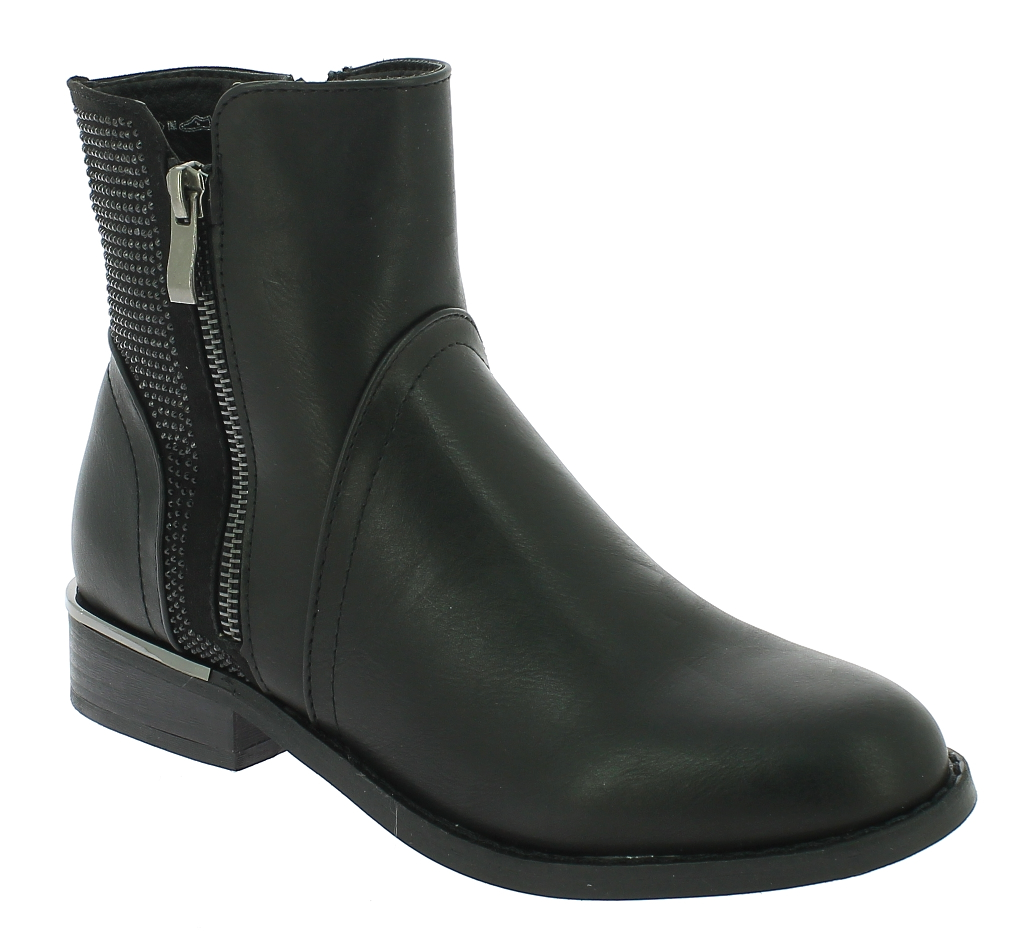 IQSHOES Γυναικείο Μποτάκι 2269379 Μαύρο - IqShoes - 2.269379 BLACK-black-37/1/15 παπούτσια  new in