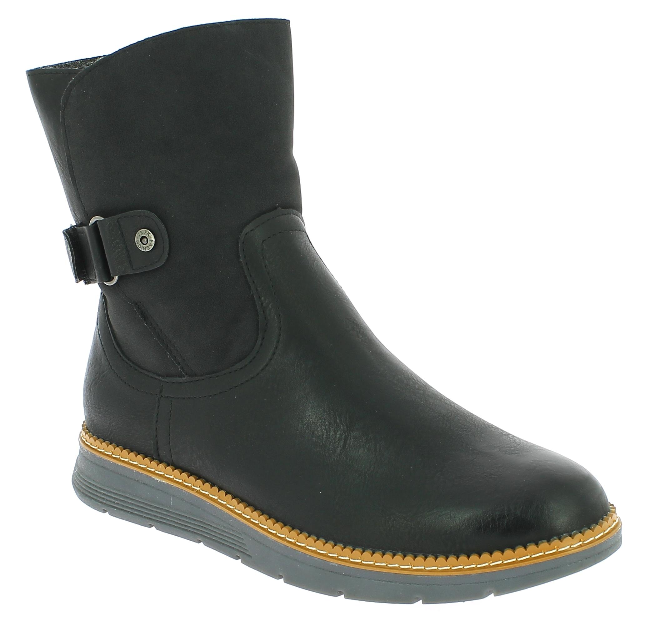 IQSHOES Γυναικείο Μποτάκι 2972901 Μαύρο - IqShoes - 2.972901 BLACK-black-38/1/15 παπούτσια  new in