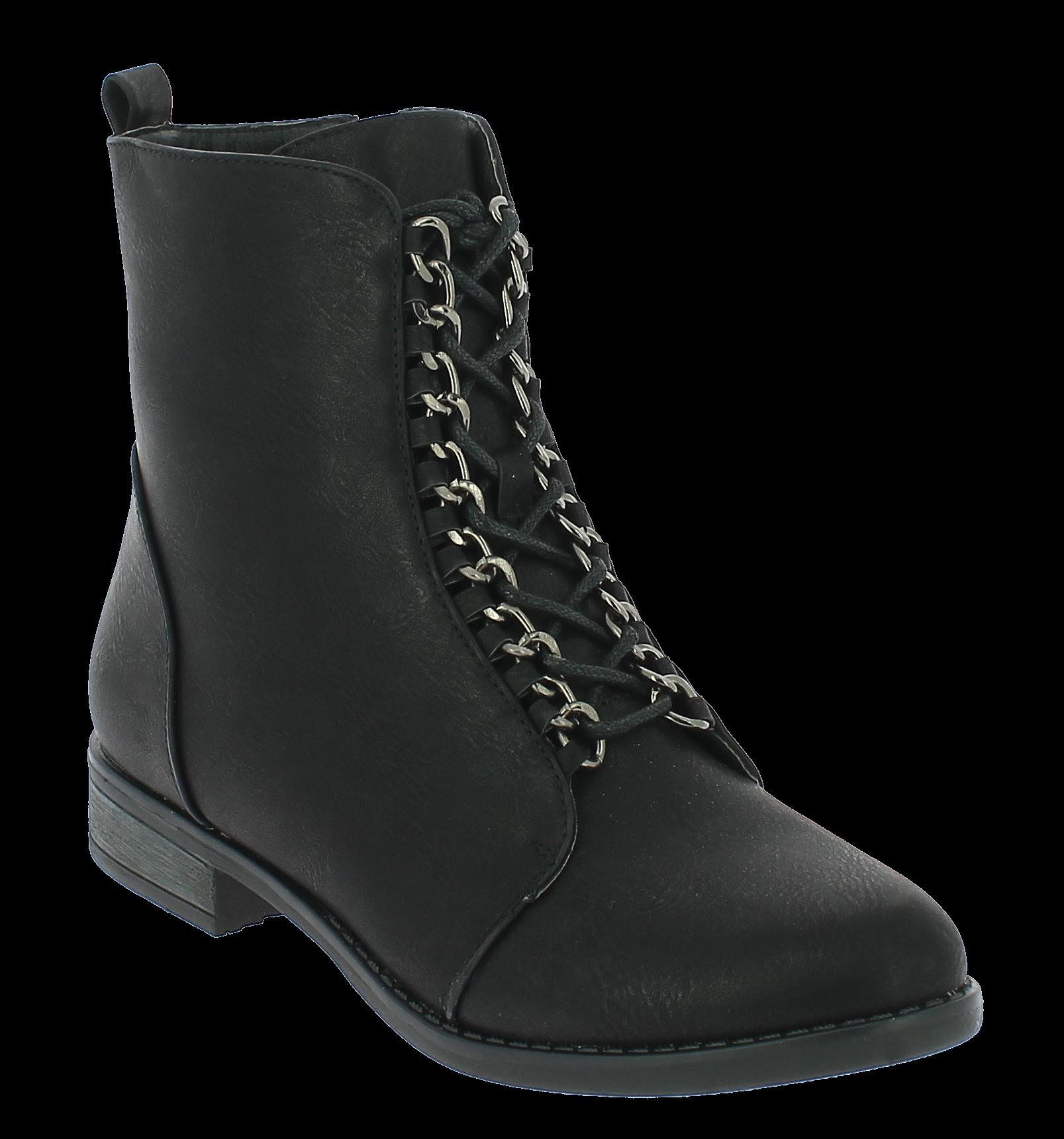IQSHOES Γυναικείο Μποτάκι HI37 Μαύρο - IqShoes - HI-37 BLACK-black-37/1/15/27 παπούτσια  new in