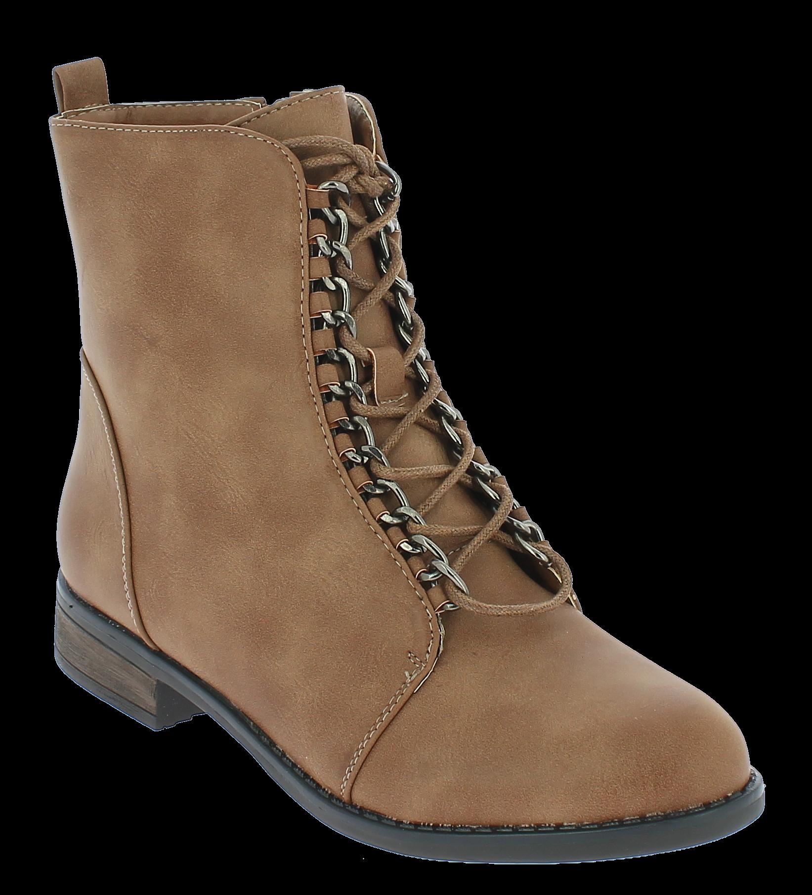 IQSHOES Γυναικείο Μποτάκι HI37 Μπεζ - IqShoes - HI-37 KHAKI-beige-40/1/7/8 παπούτσια  new in
