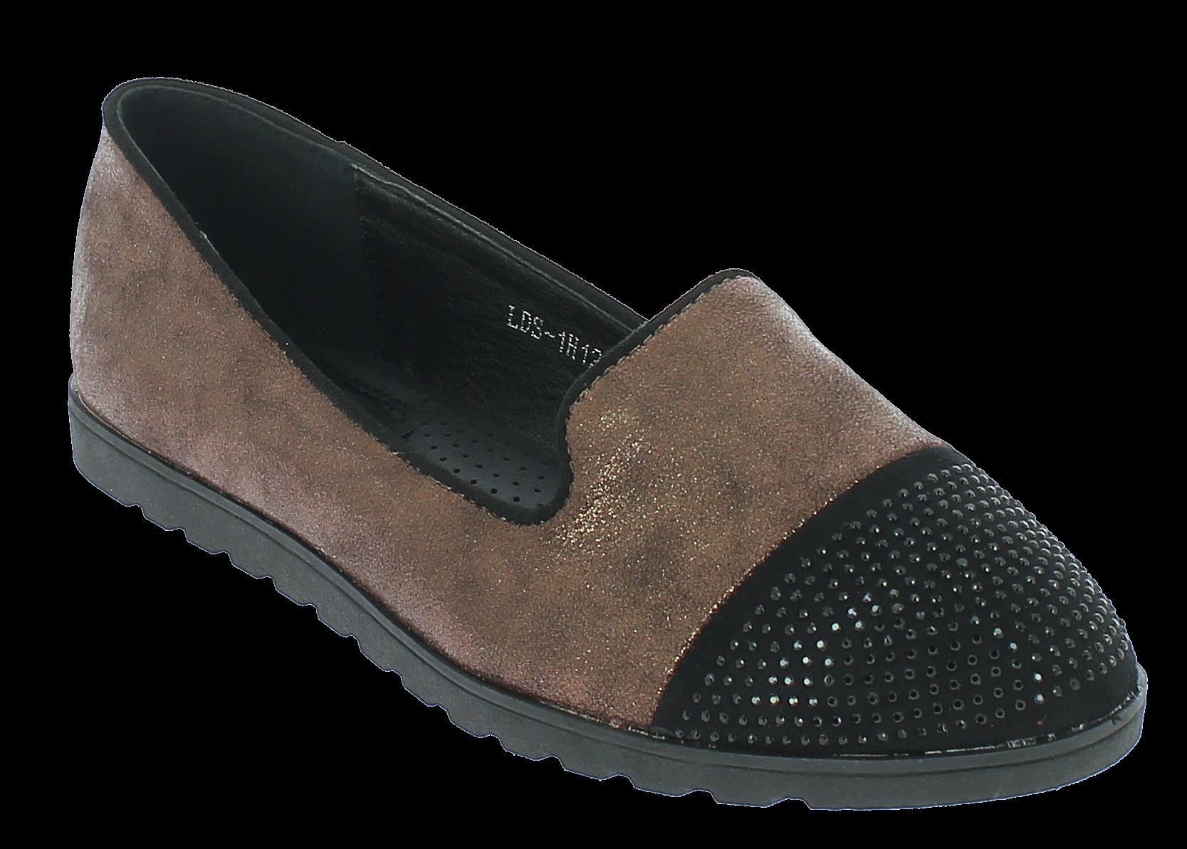 IQSHOES Γυναικεία Μπαλαρίνα 1H129 Μπρονζέ - IqShoes - 1H129 BRONZE-bronze-36/1/3 παπούτσια  new in