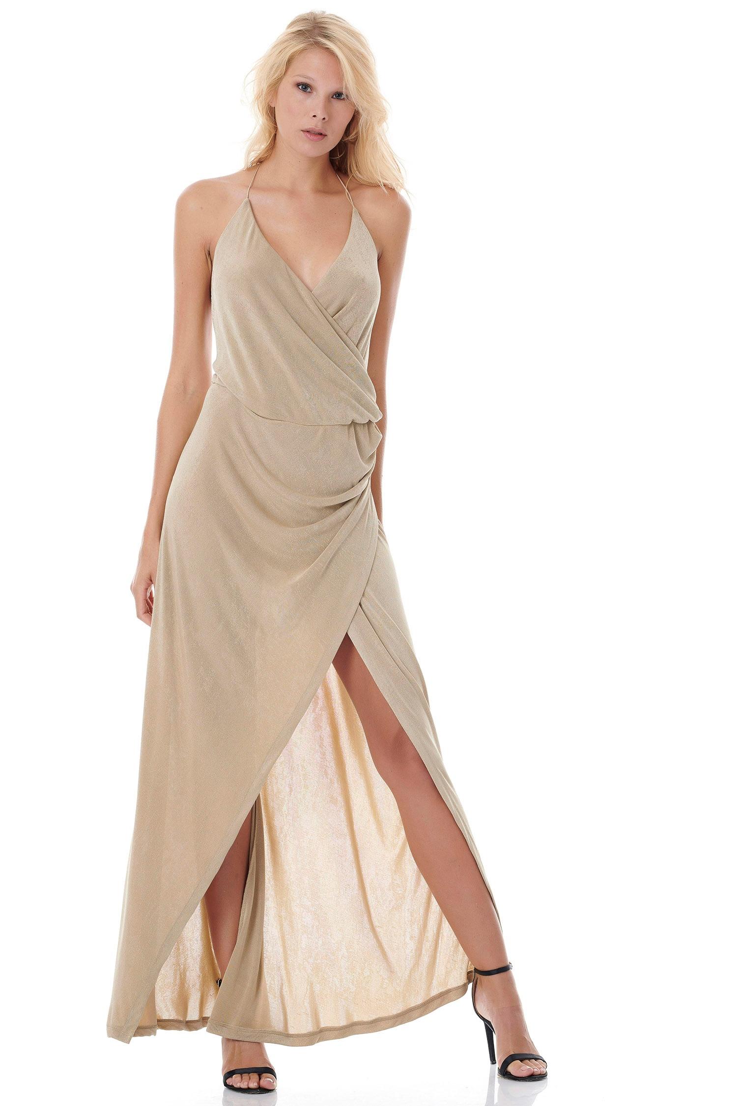 Μάξι Εξώπλατο Wrap Φόρεμα ONLINE - ONLINE - SS18ON-52494 glam occassions wedding shop