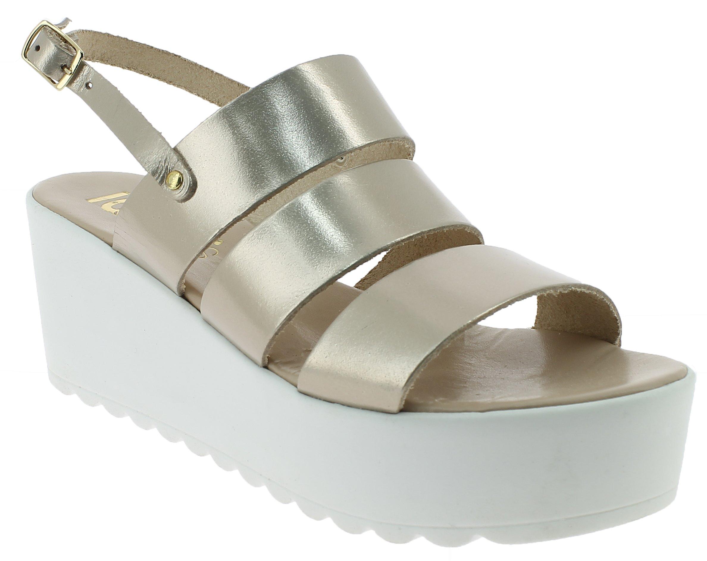 IQSHOES Γυναικείο Πέδιλο A84 Χρυσό - IqShoes - 50.A84 GOLD-IQSHOES-gold-40/1/34/ παπούτσια  προσφορεσ