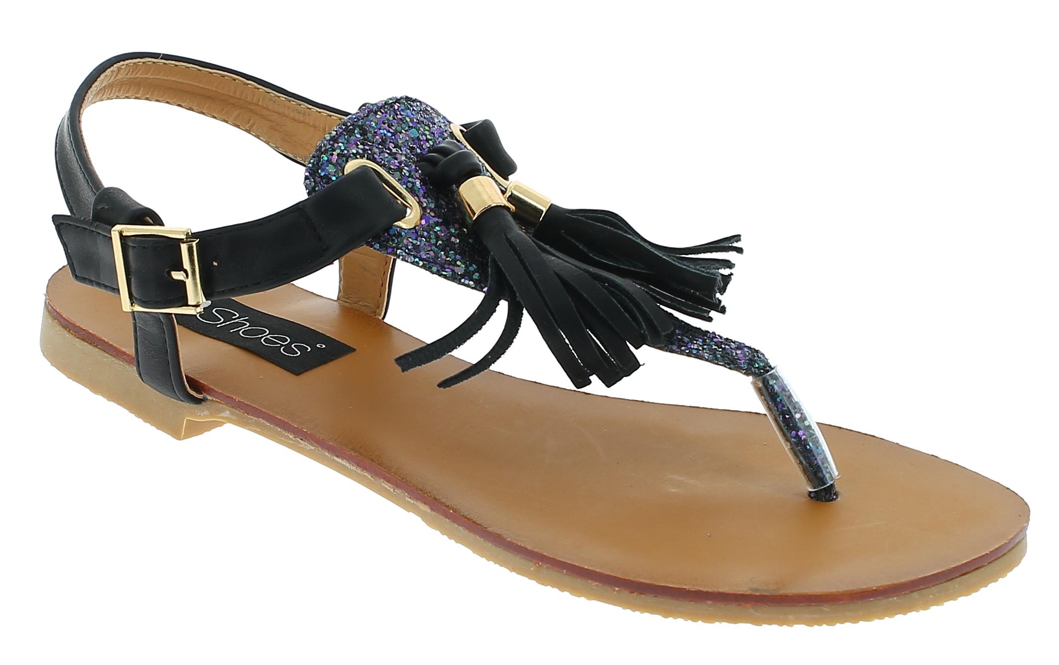 IQSHOES Γυναικεία Σανδάλια MY6711 Μαύρο - IqShoes - MY6711 BLACK -IQSHOES-black- παπούτσια  προσφορεσ