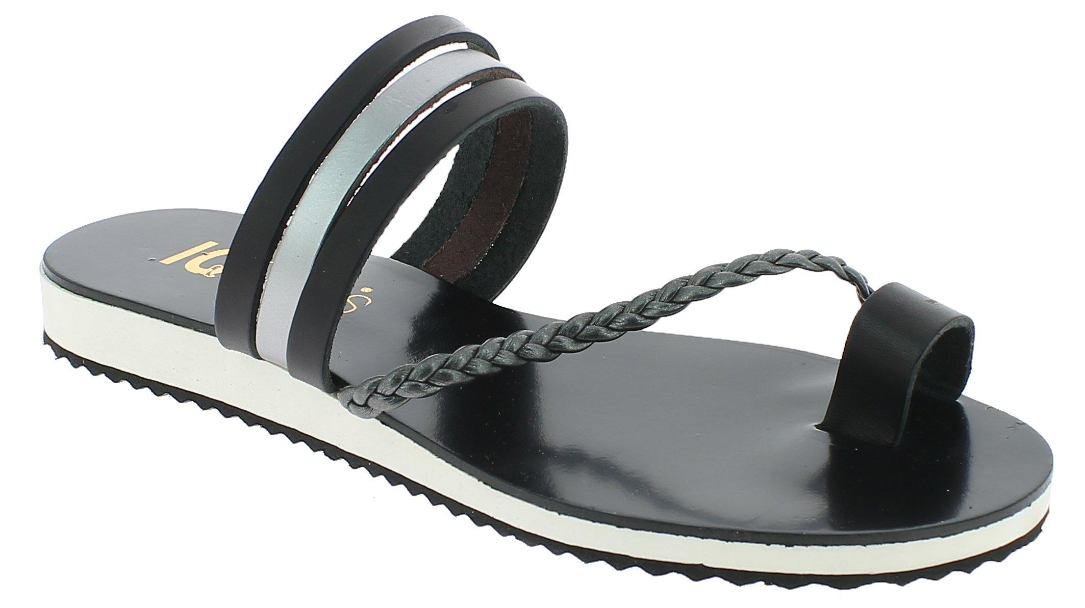 IQSHOES Γυναικεία Σανδάλια 211 Μαύρο - IqShoes - 211 BLACK-IQSHOES-black-36/1/15 παπούτσια  προσφορεσ
