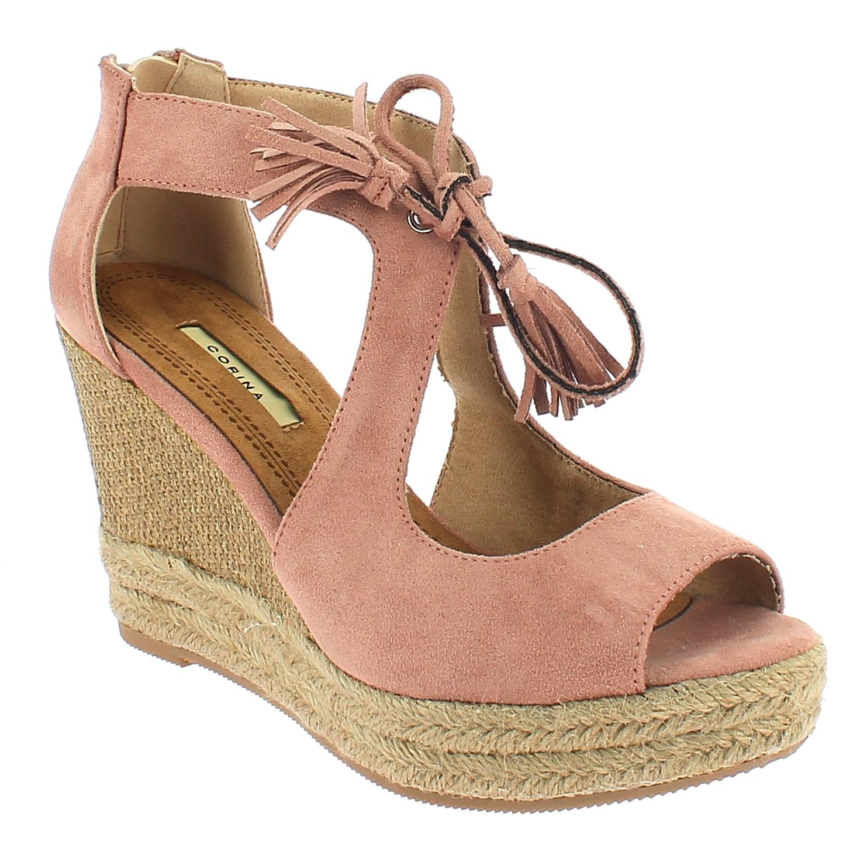 CORINA Γυναικεία Πλατφόρμα C8321 Ροζ - IqShoes - C8321 ROSA-CORINA-pink-41/1/11/