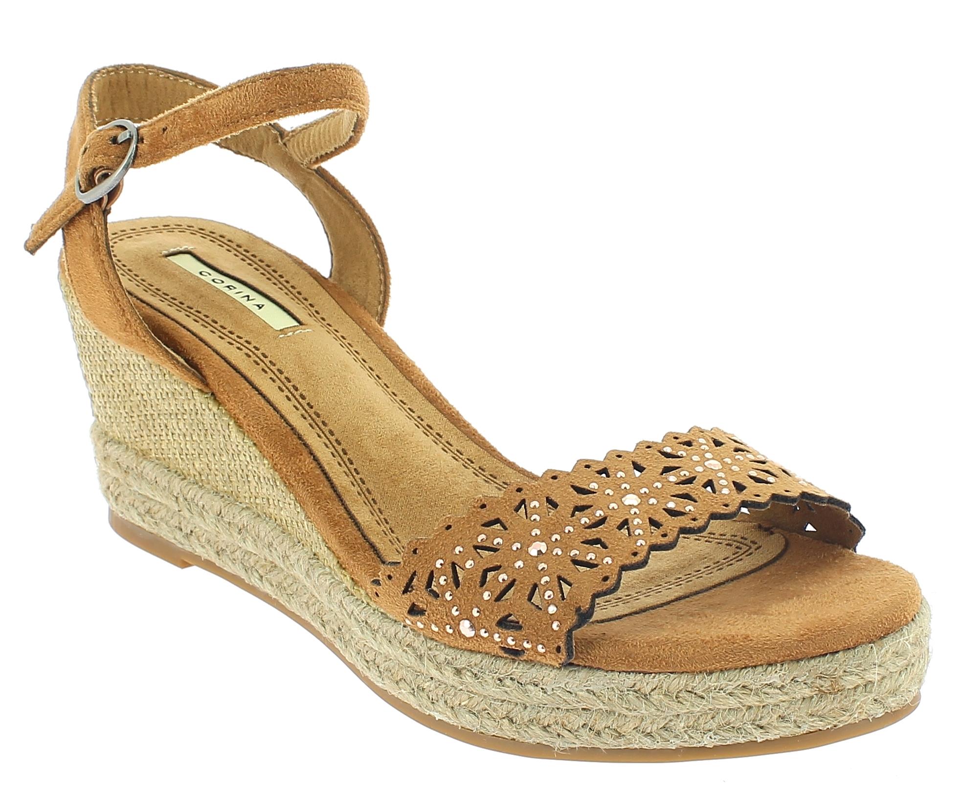CORINA Γυναικεία Πλατφόρμα C8371 Κάμελ - IqShoes - C8371 CUERO-CORINA-camel-40/1 παπούτσια  new in