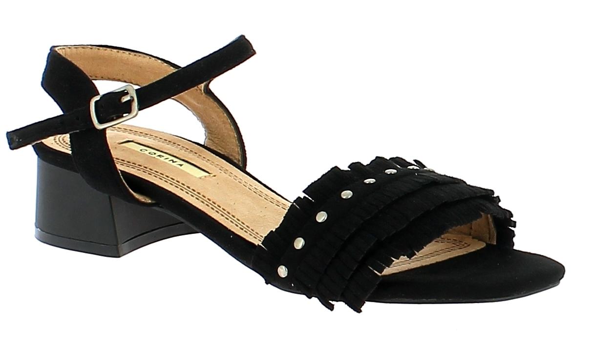 CORINA Γυναικείο Πέδιλο C8226 Μαύρο - IqShoes - C8226 NEGRO-CORINA-black-39/1/15 παπούτσια  new in